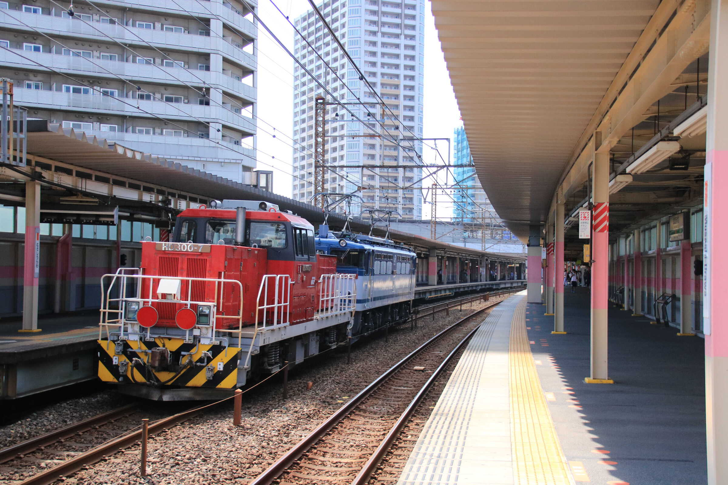 単8582列車 隅田川常駐機交換 EF65-2117①[新]+HD300-7①[新]