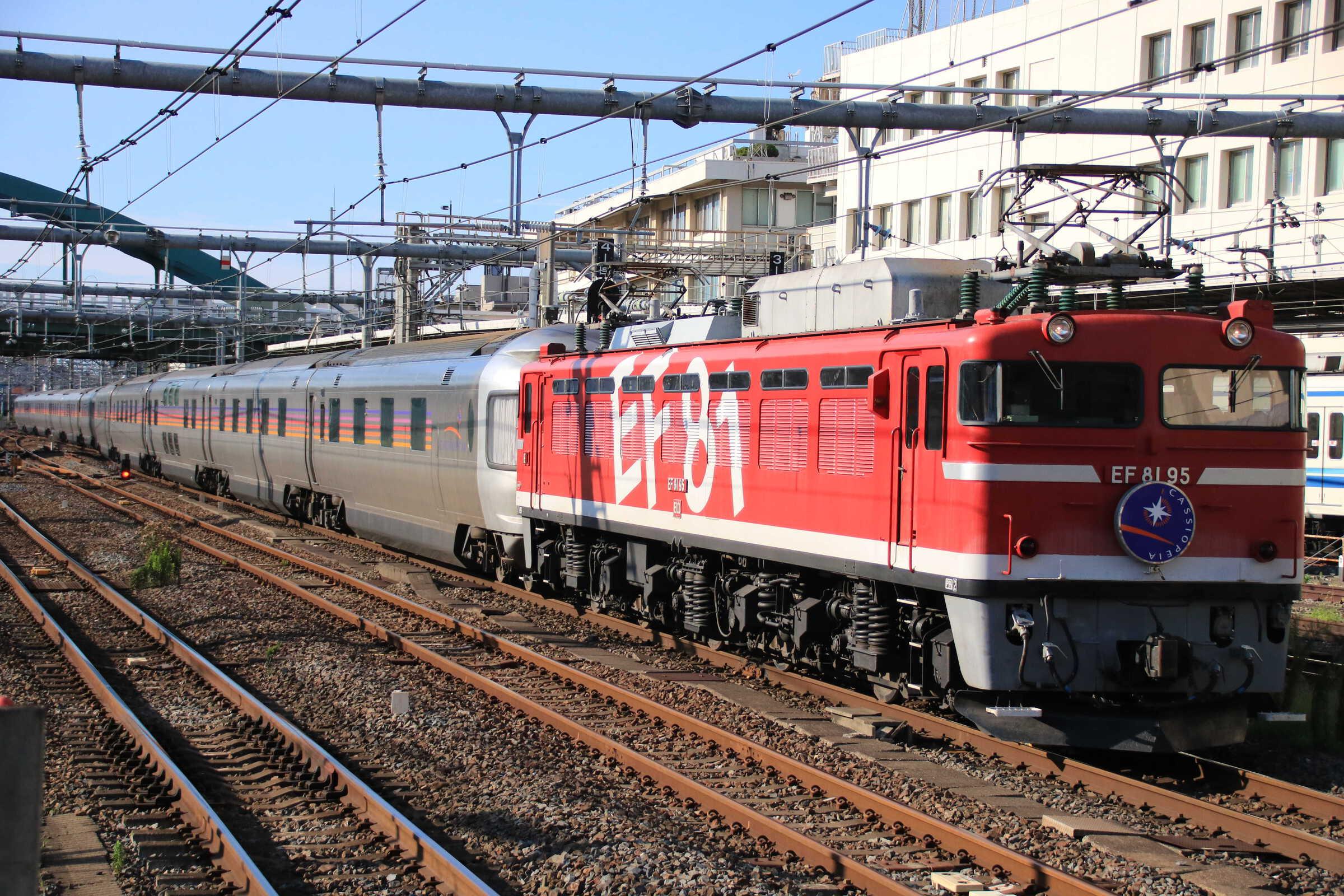 9028列車 団臨 カシオペアクルーズ 上野行き EF81-95②[田]+E26系 東オク車12両