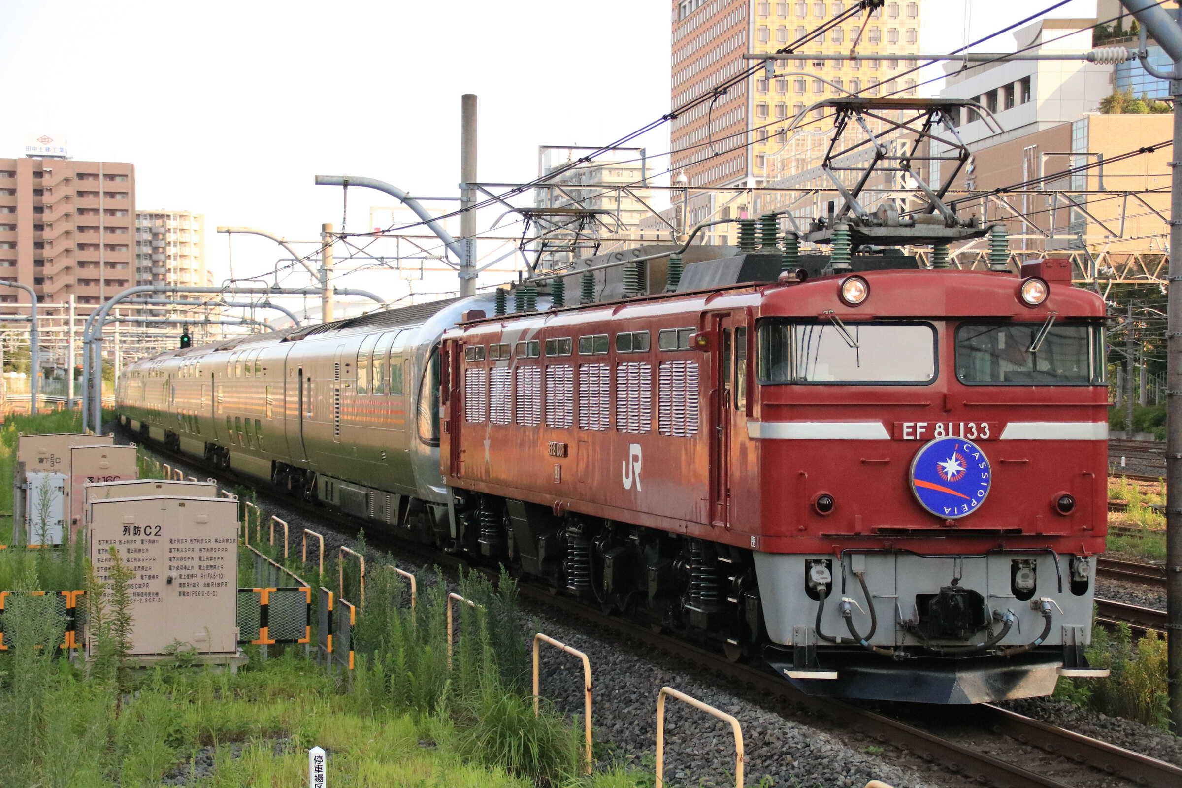 8009列車 団臨 カシオペア紀行 EF81-133①[田]+E26系 東オク車12両