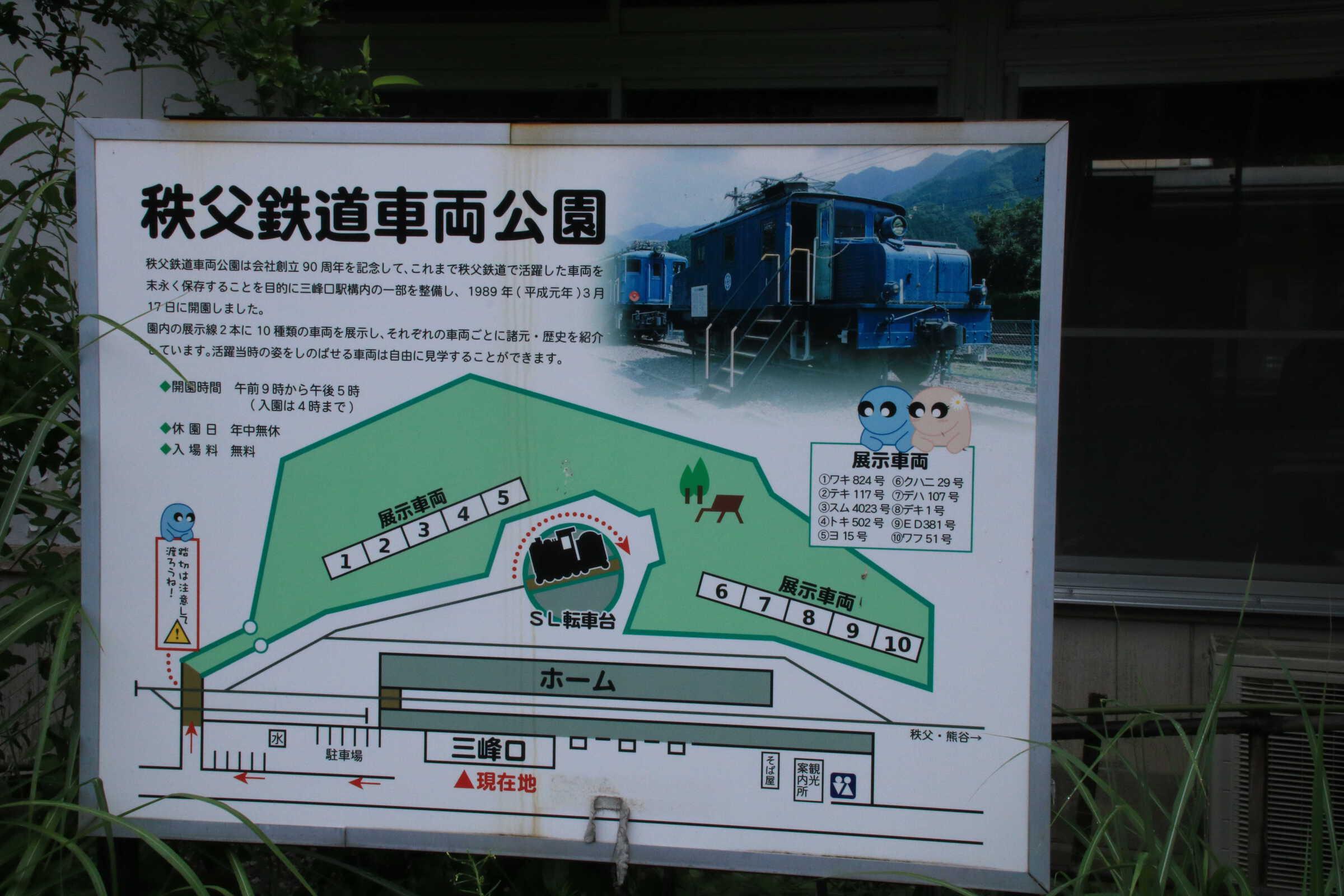 秩父鉄道車両公園の看板