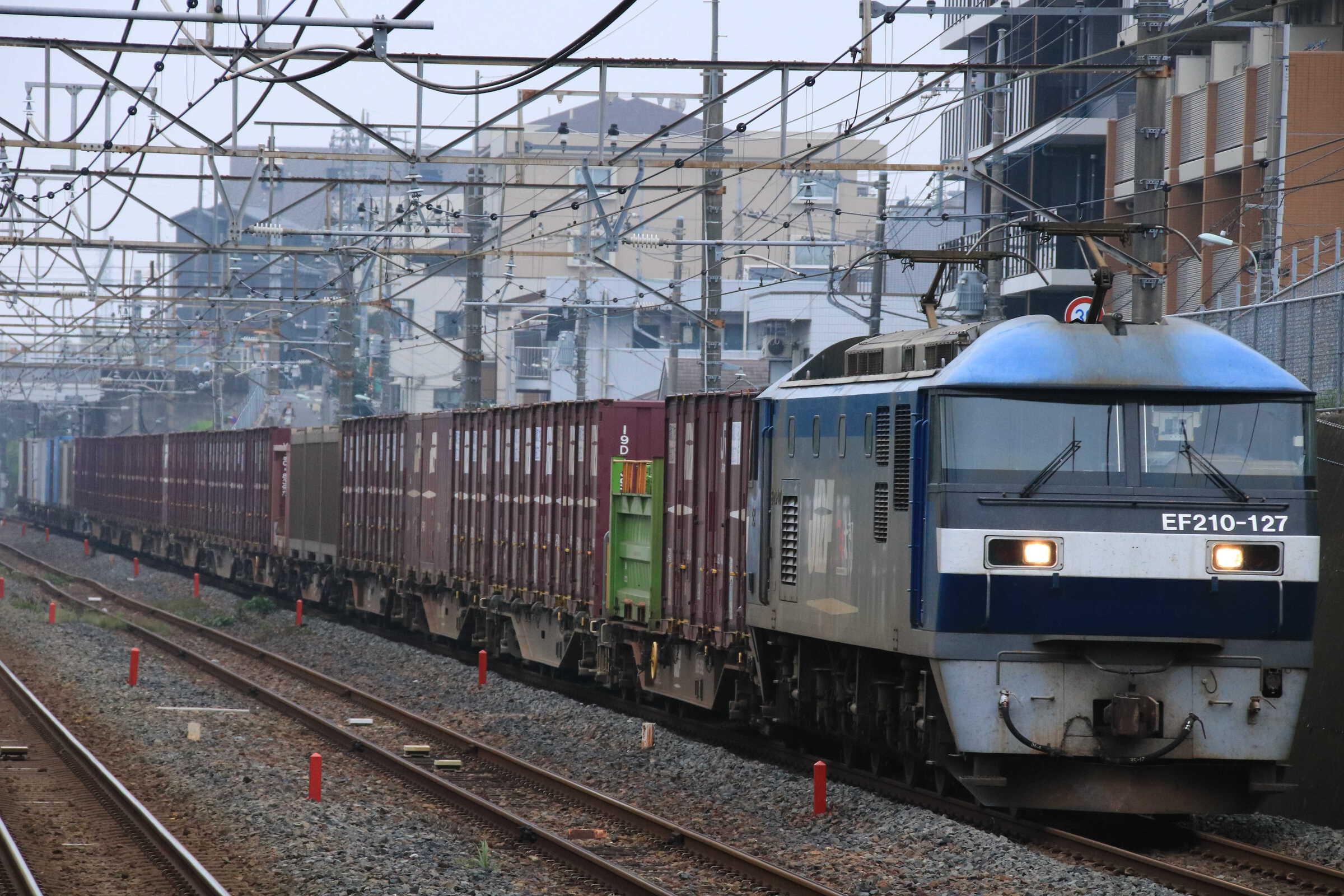 4095列車 EF210-127①[岡]+コキ