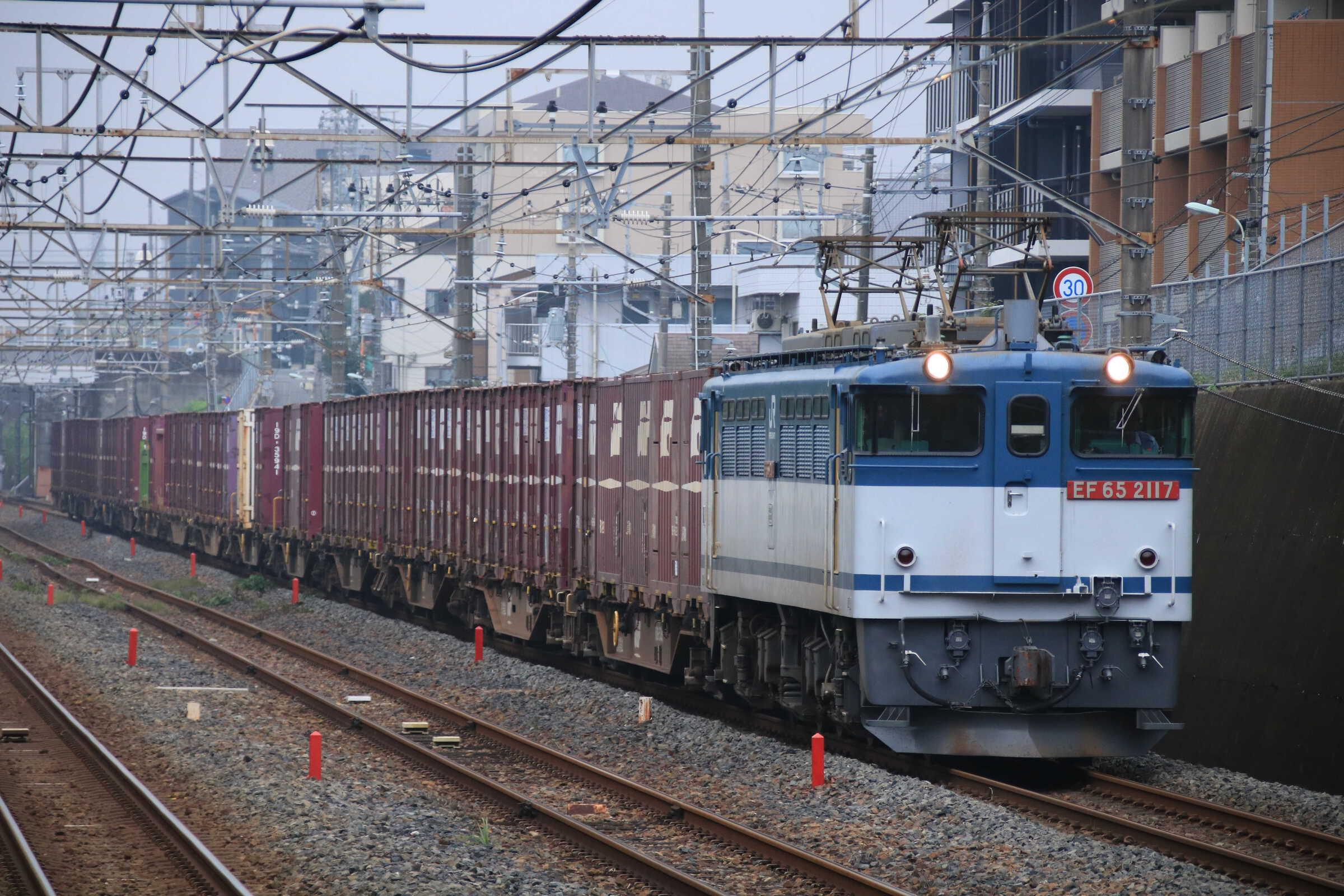 75列車 EF65-2117①[新]+コキ