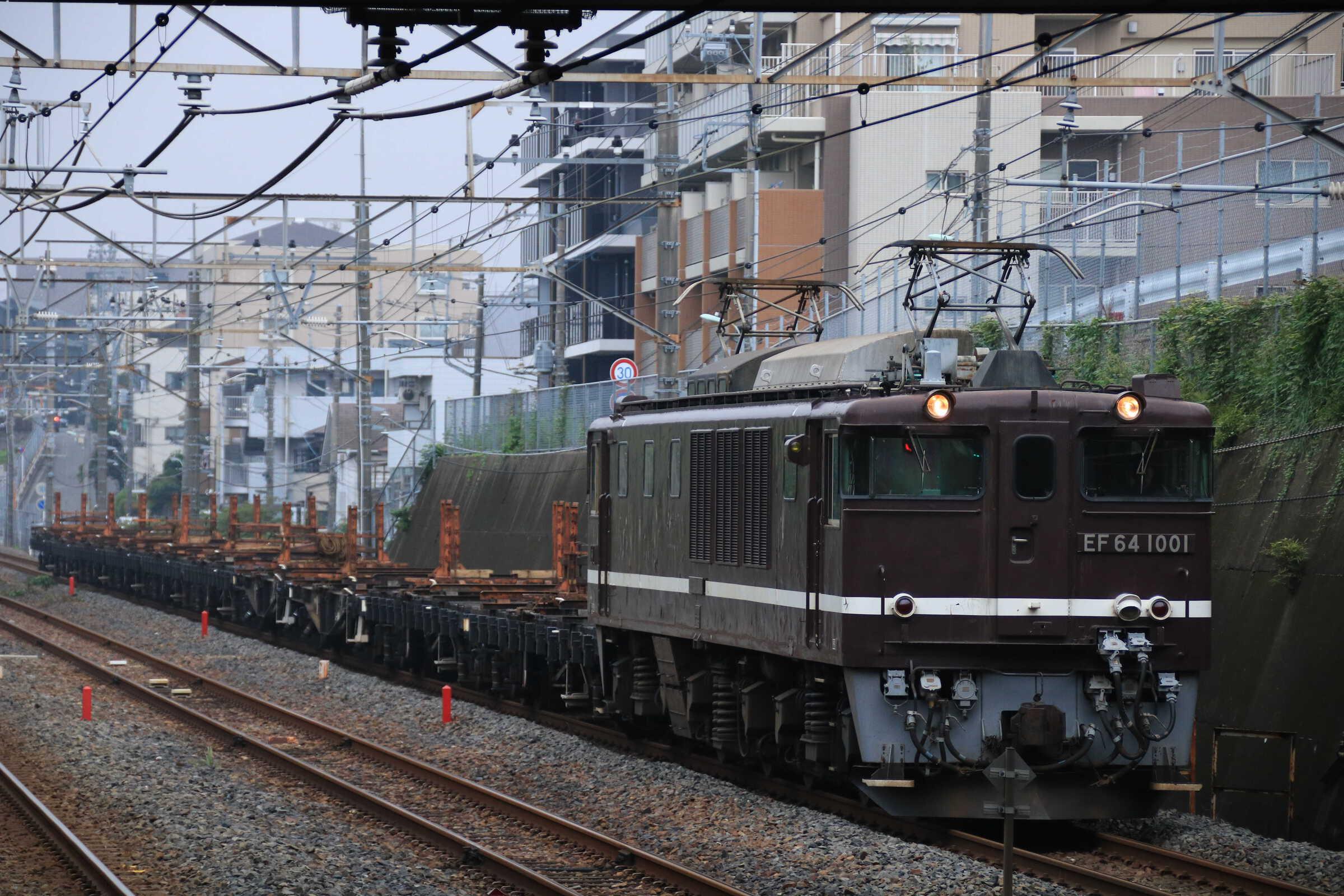 工9562列車 新津(上沼垂, あつみ温泉, 吉田)工臨返空 EF64-1001①[高]+チキ10両