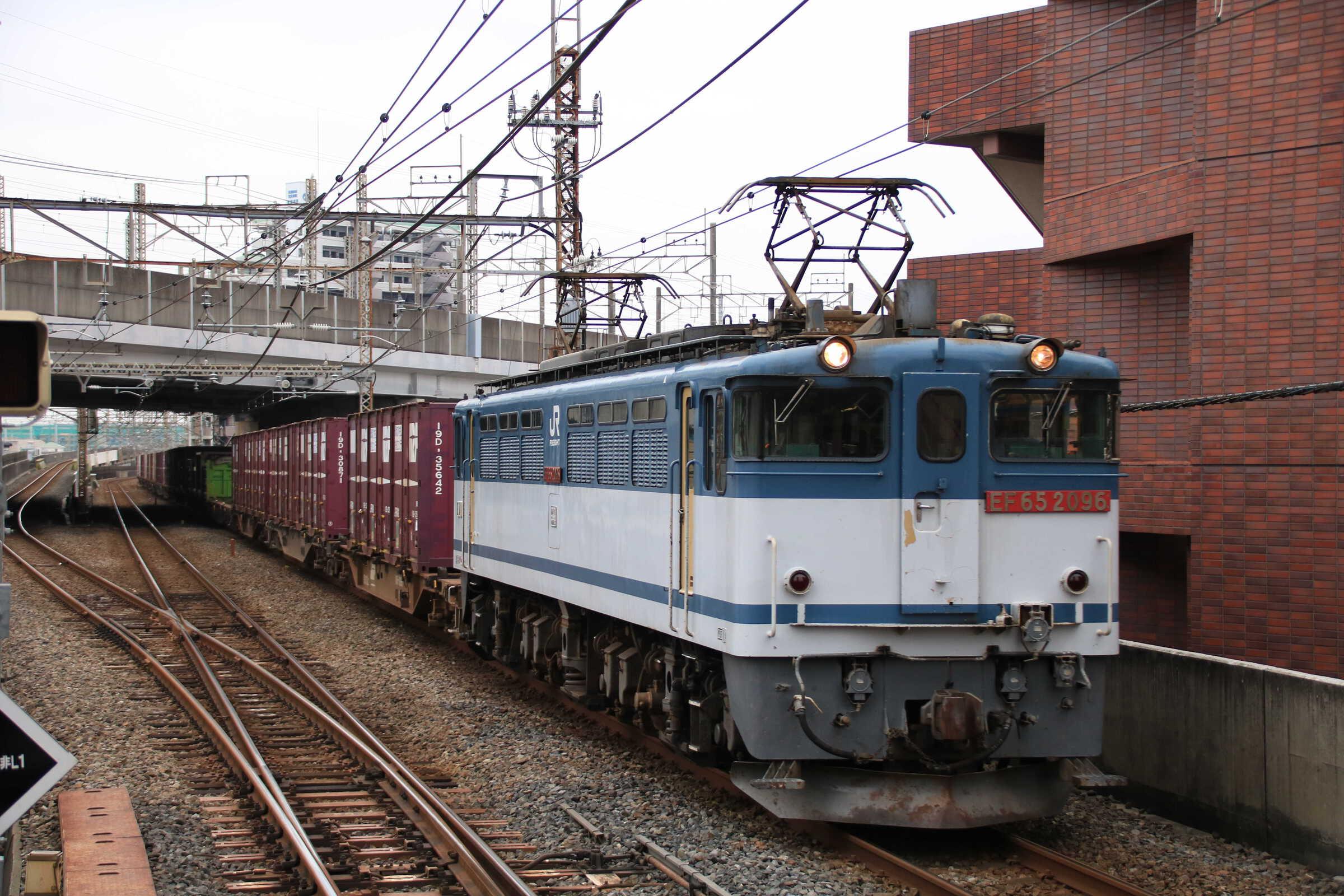 75列車 EF65-2096①[新]+コキ