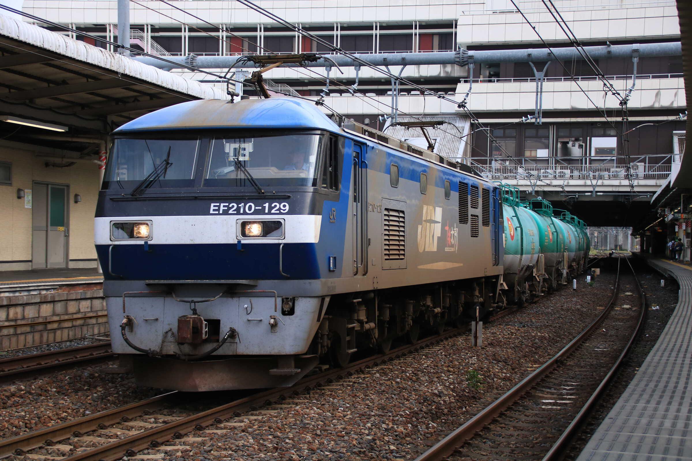 4091列車 EF210-129②[岡]+タキ