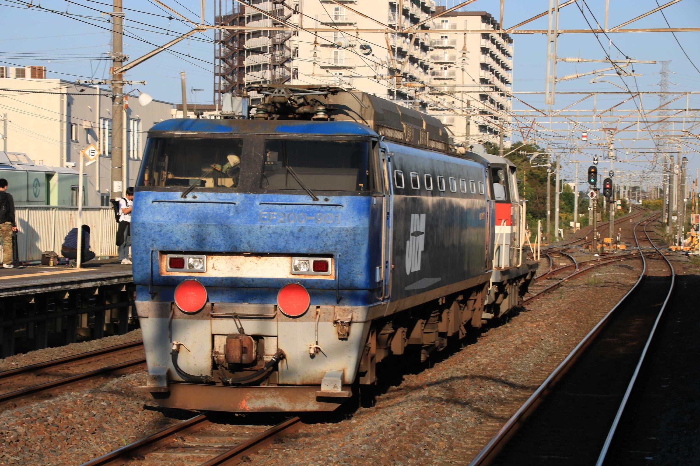 9095列車 甲151(新鶴見〜日立)・EF200-901 日立返却甲種輸送 DE10-1189①[新]+EF200-901①