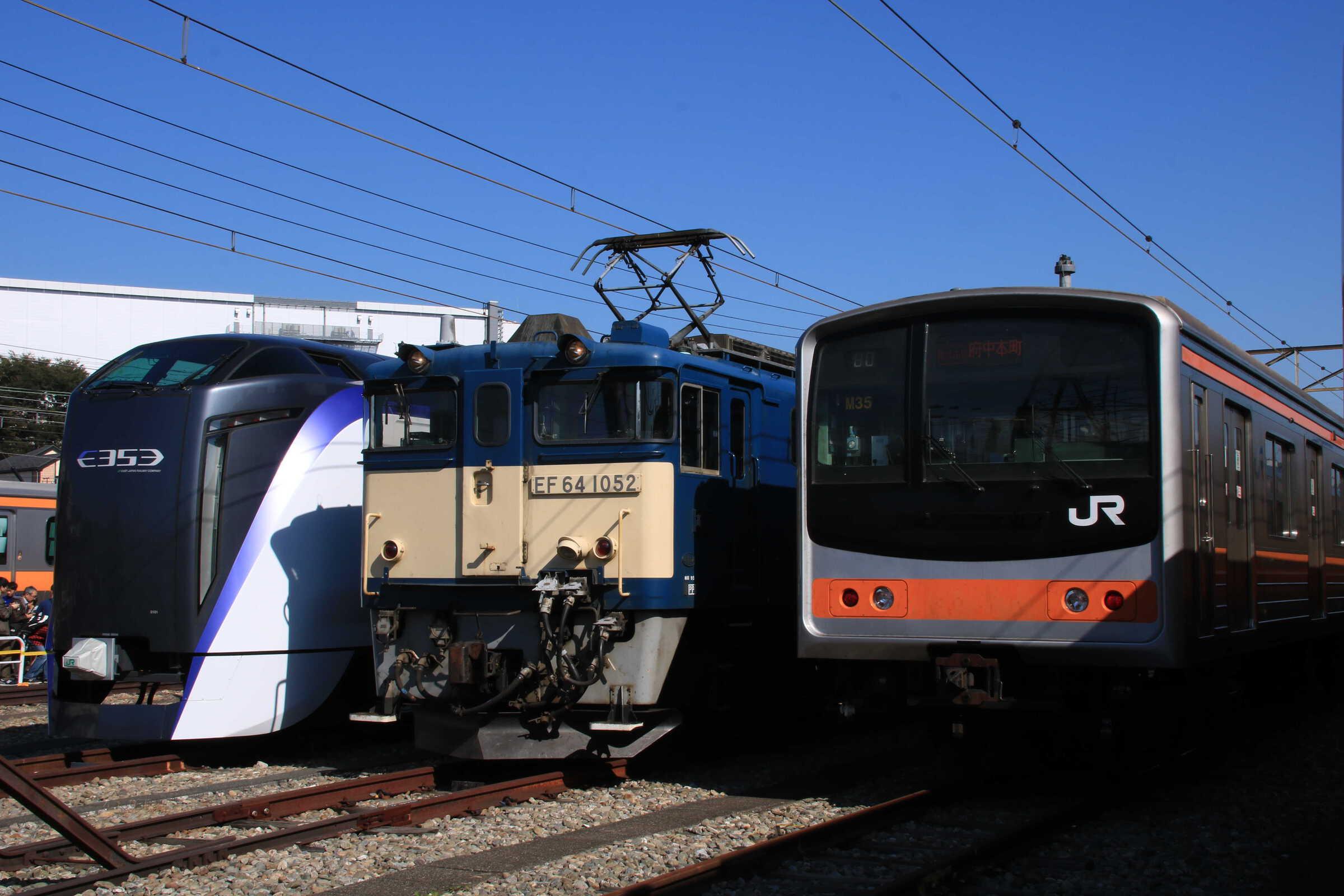 武蔵野線205系,EF64,E353系
