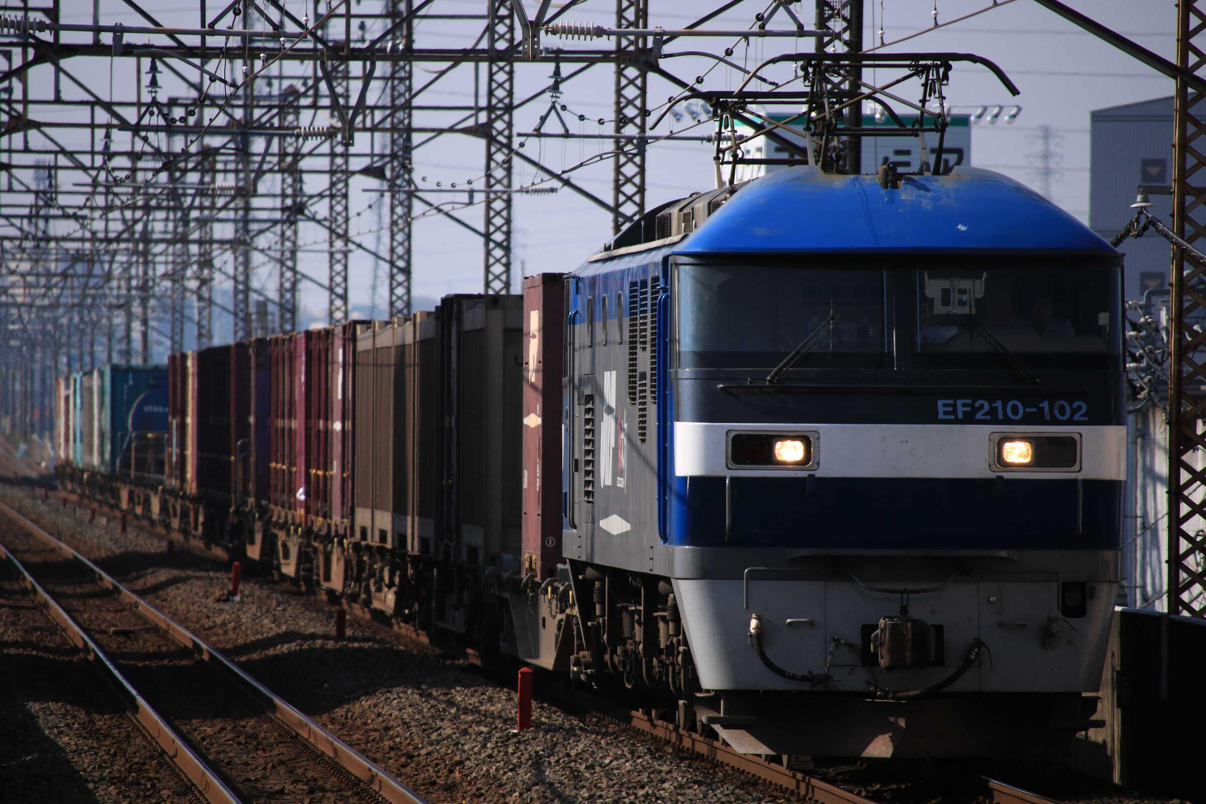 4095列車 EF210-102①[岡]+コキ