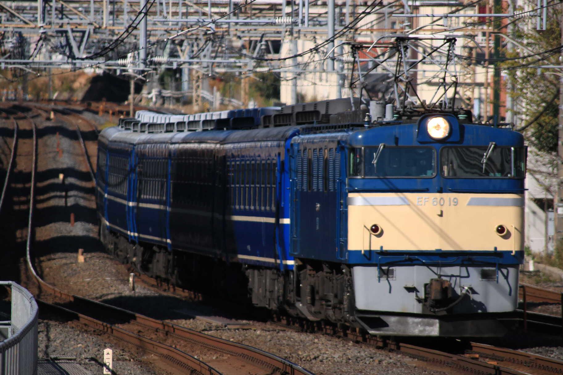 回9742列車 団臨(仙1203) 懐かしの急行列車で行く東京おとな旅 送り込み回送 EF60-19①[高]+12系 高タカ車5両