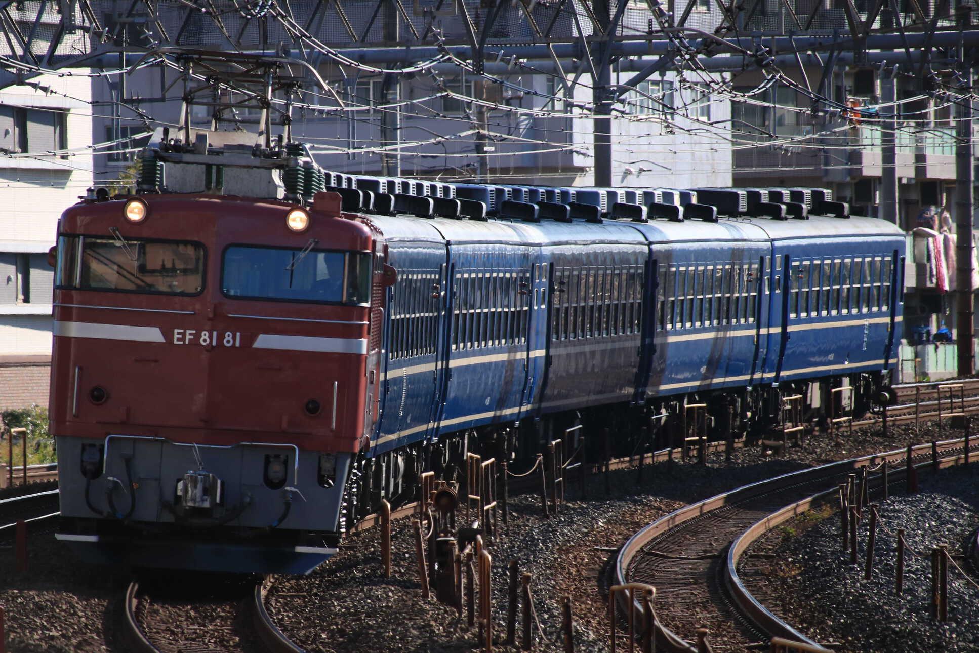 回9135列車 団臨(仙1203) 懐かしの急行列車で行く東京おとな旅 送り込み回送 EF81-81②[田]+12系 高タカ車5両