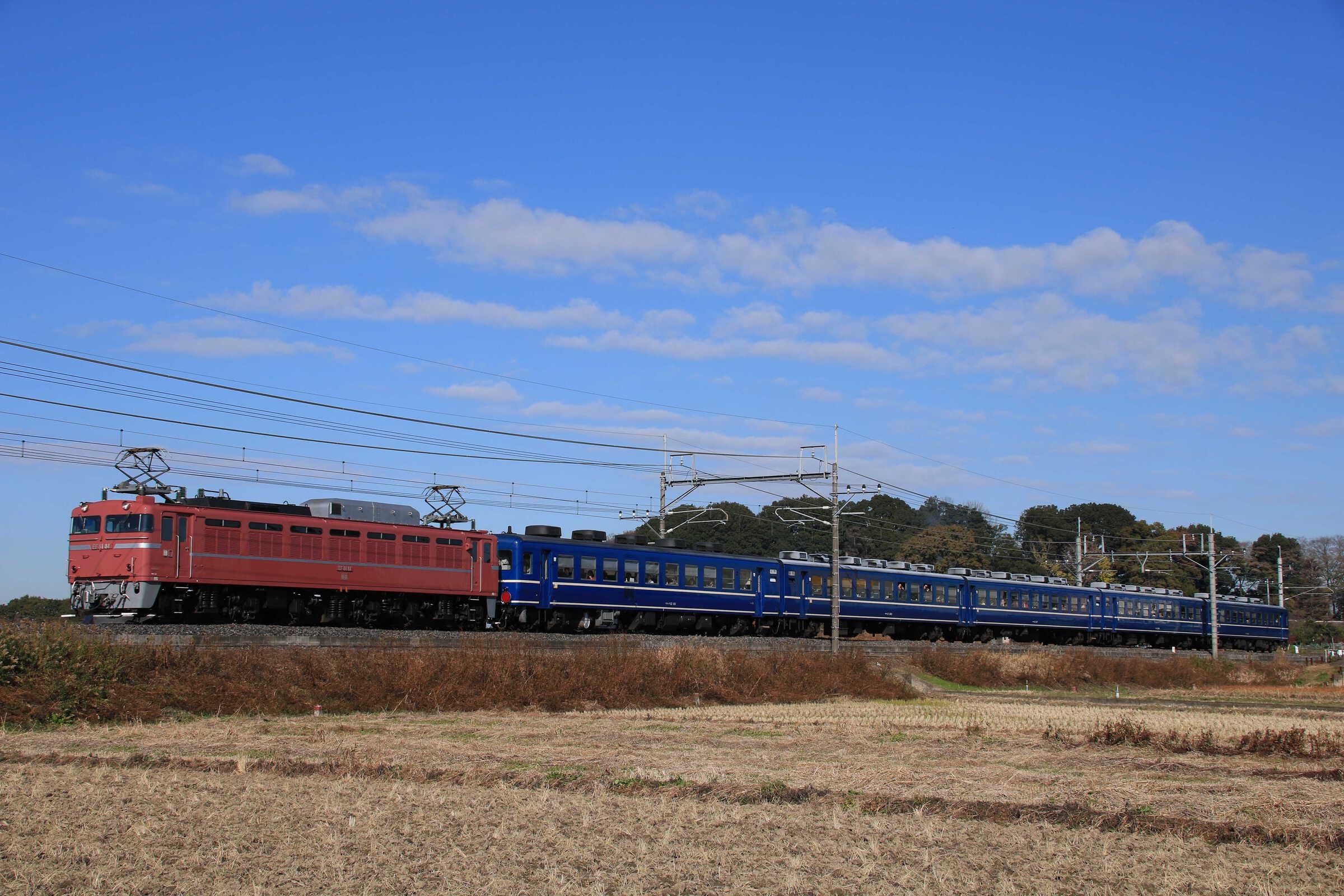 9110列車 団臨(仙1203, 仙台→上野) 懐かしの急行列車で行く東京おとな旅 EF81-81①[田]+12系 高タカ車5両