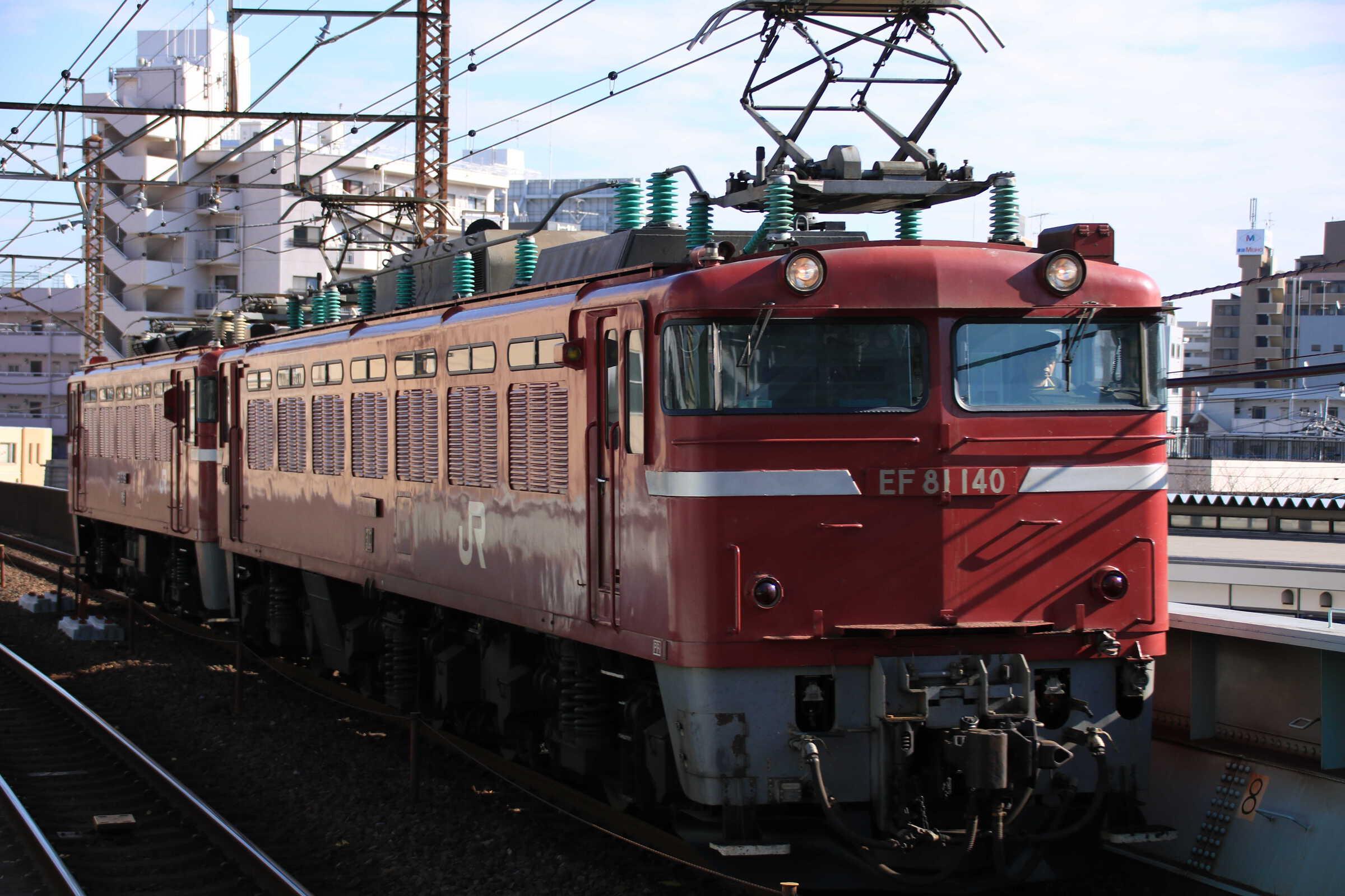 配9145列車 AT出場配給 EF81-140①[長岡]+ED75-759②[仙]