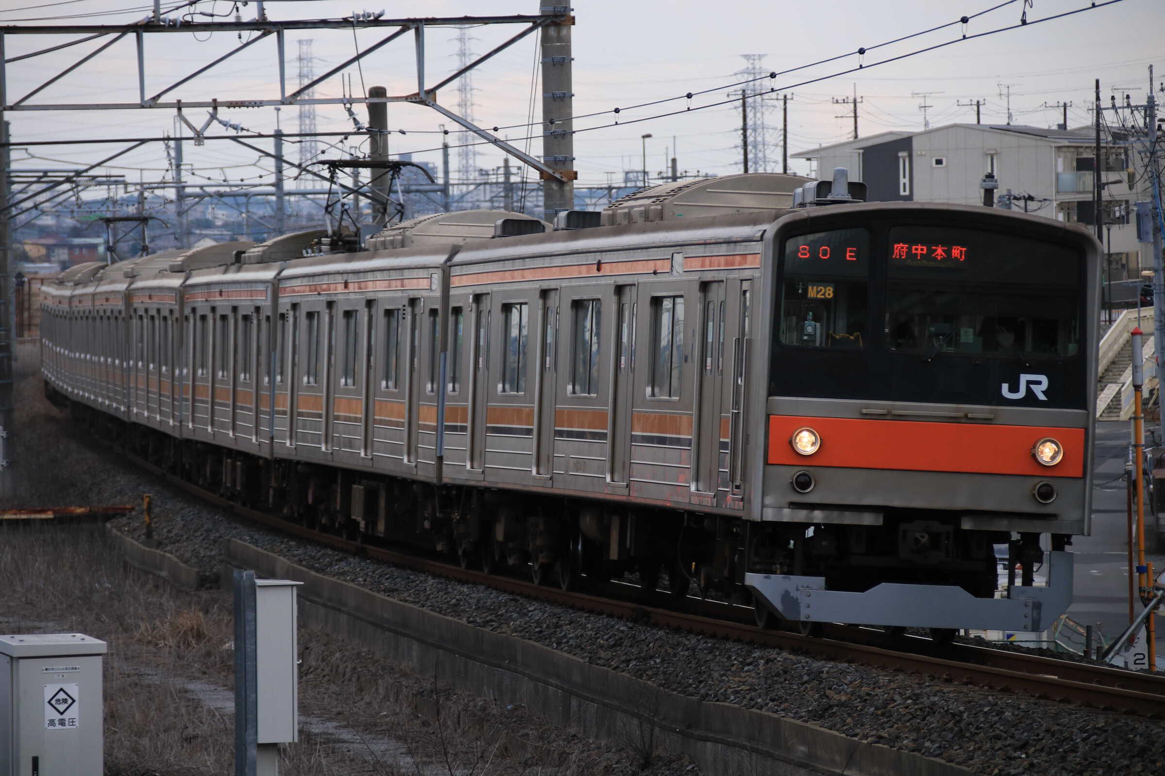 1380E 205系 千ケヨM28編成