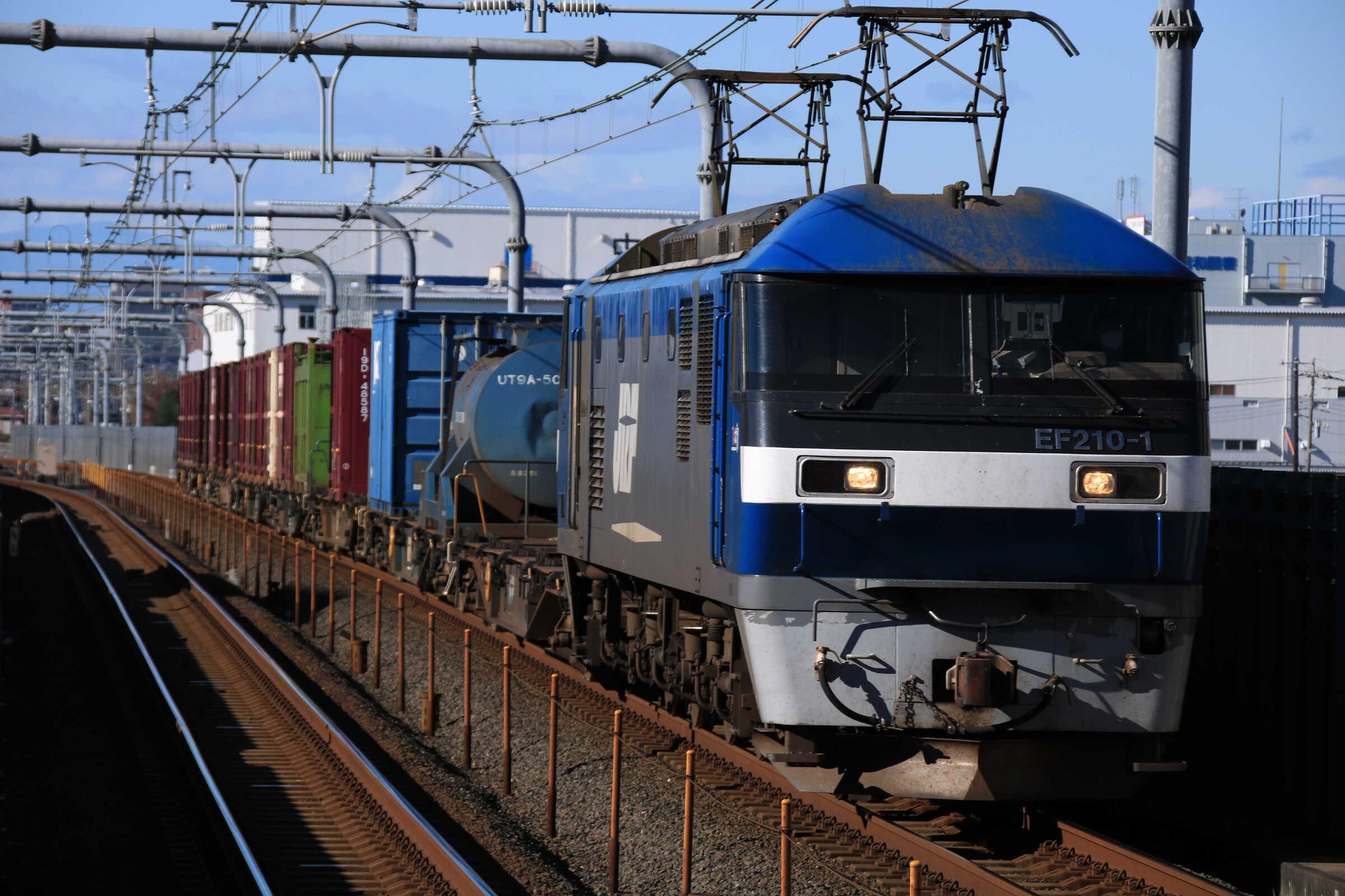 1359列車 EF210-1①[岡]+コキ