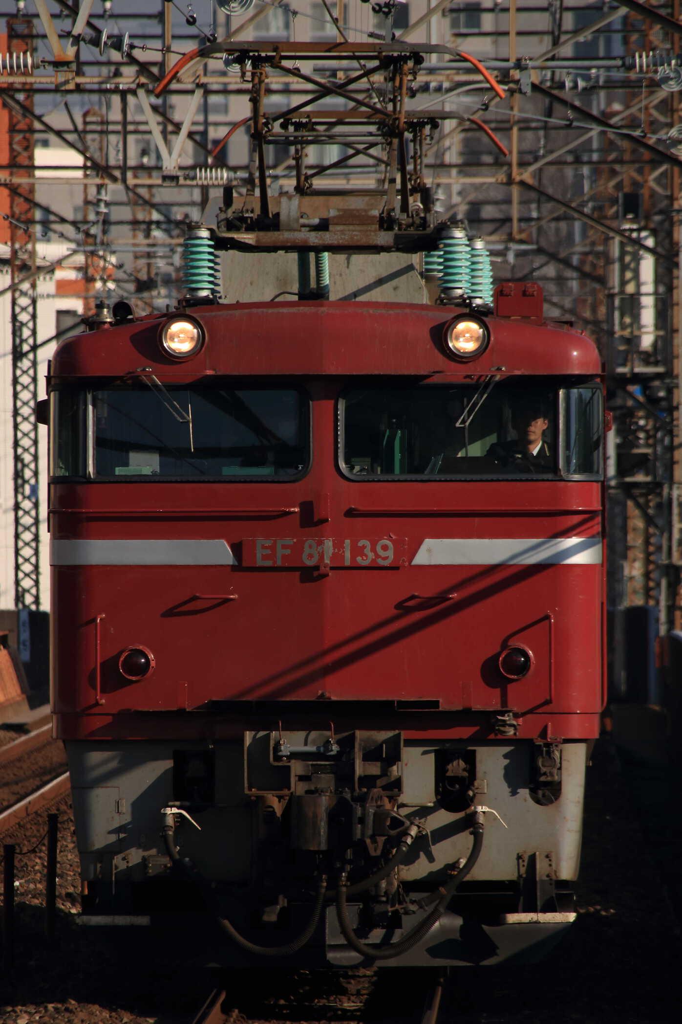 単9722列車 AT出場牽引機返却回送 EF81-139②[秋]