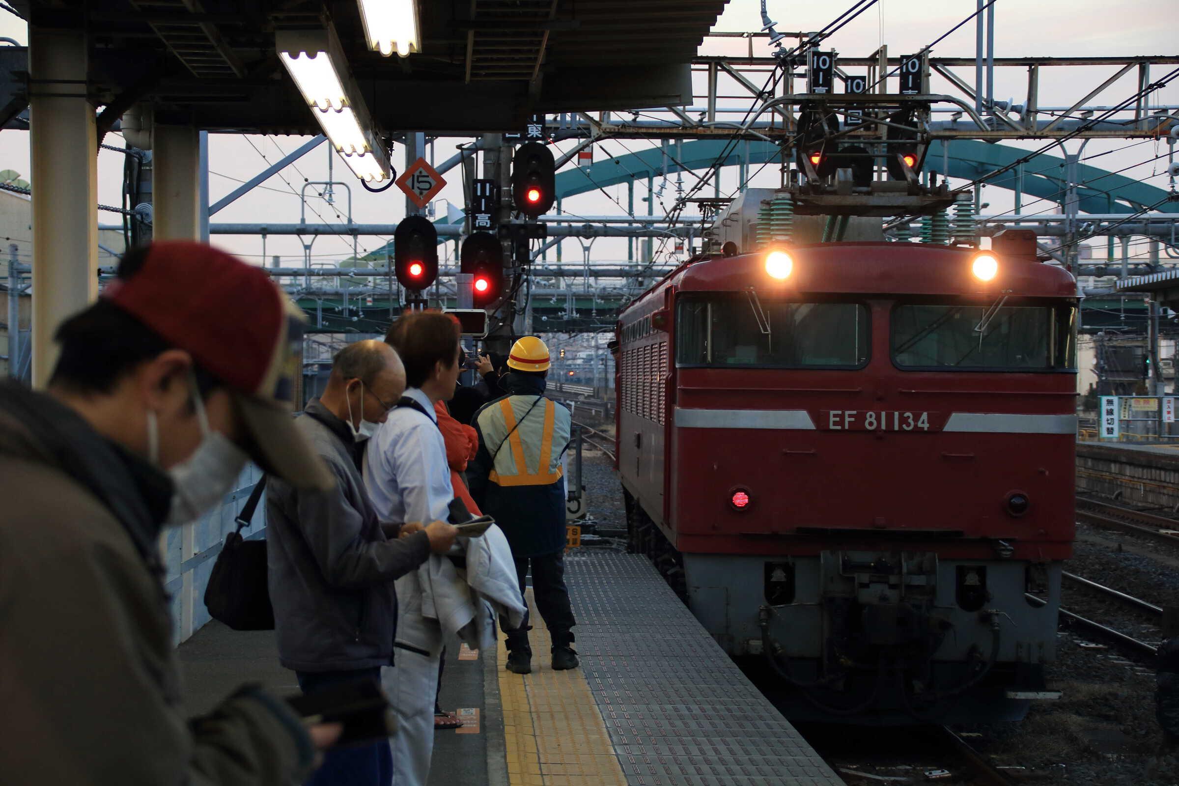 単9751列車 OM入場牽引機返却 EF81-134①[長岡]