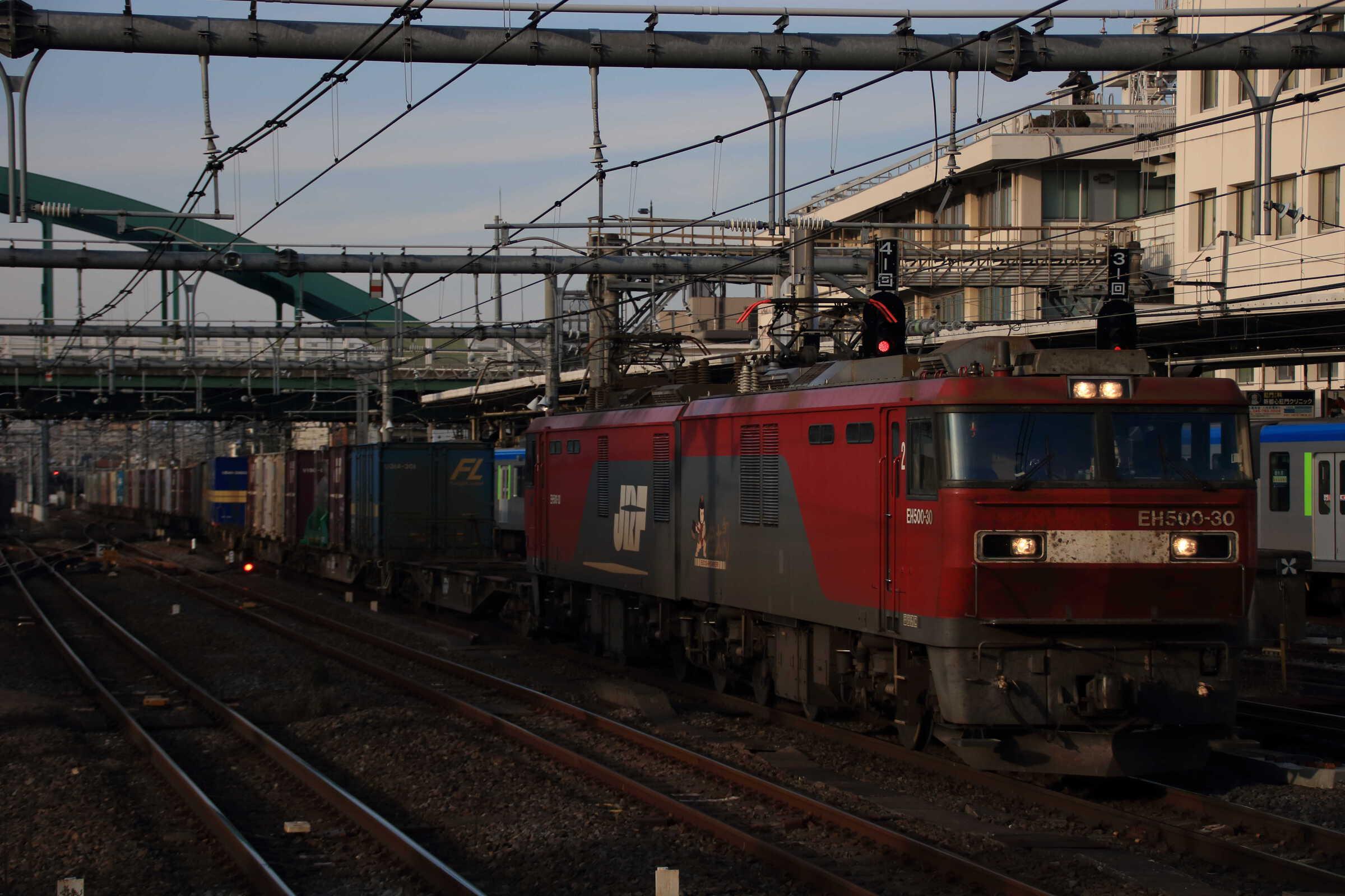 3054列車 EH500-30②[仙貨]+コキ