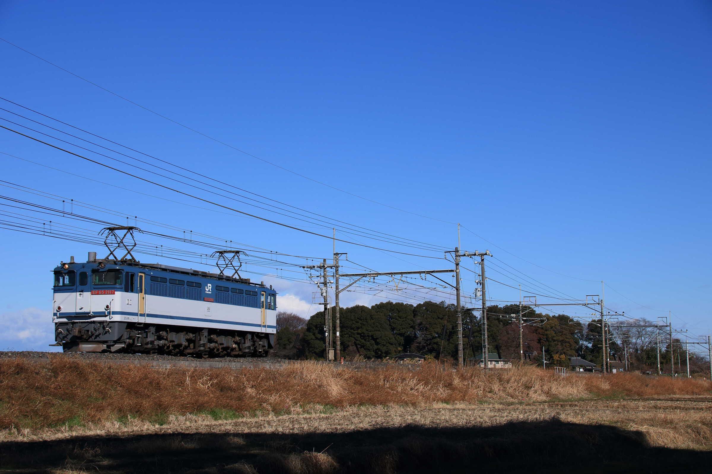 配8592列車(種別変更 : 単機) EF65-2117②[新]