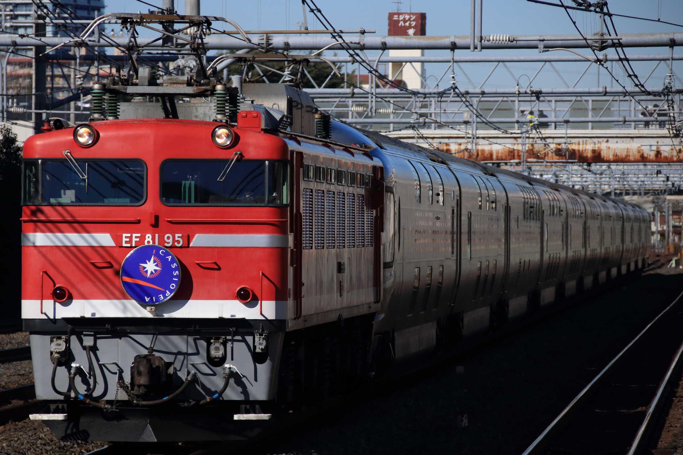 8010列車 団臨 カシオペア紀行 EF81-95+E26系 東オク車12両
