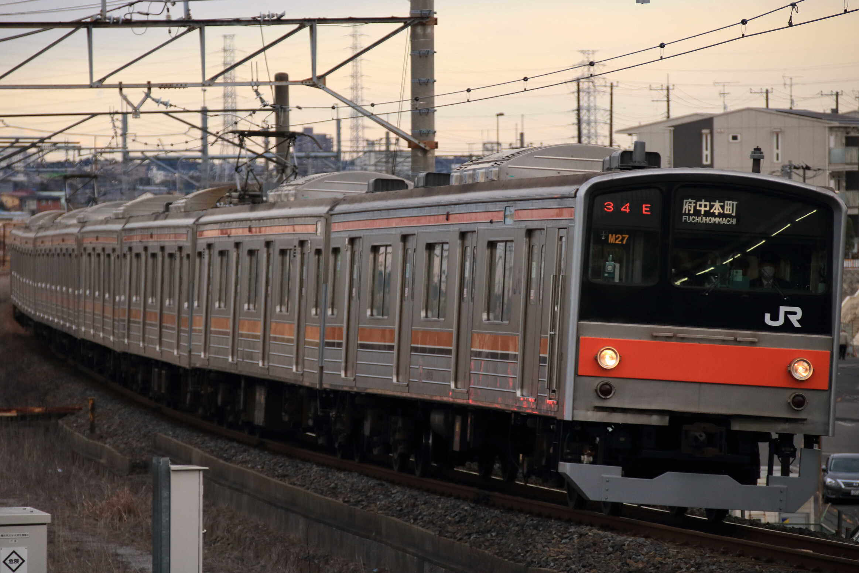 1434E 205系 千ケヨM27編成