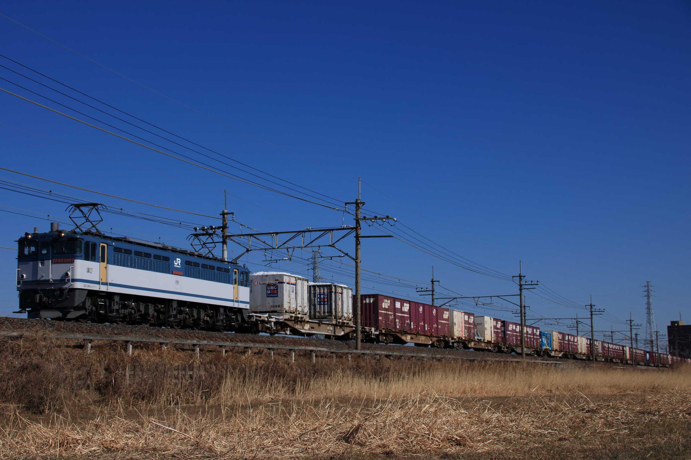 72列車 EF65-2085②[新]+コキ