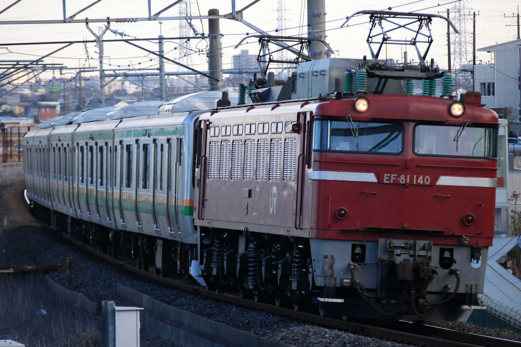 配9633列車 E231系 KY出場配給 EF81-140②[長岡]+E231系 宮ヤマU64編成