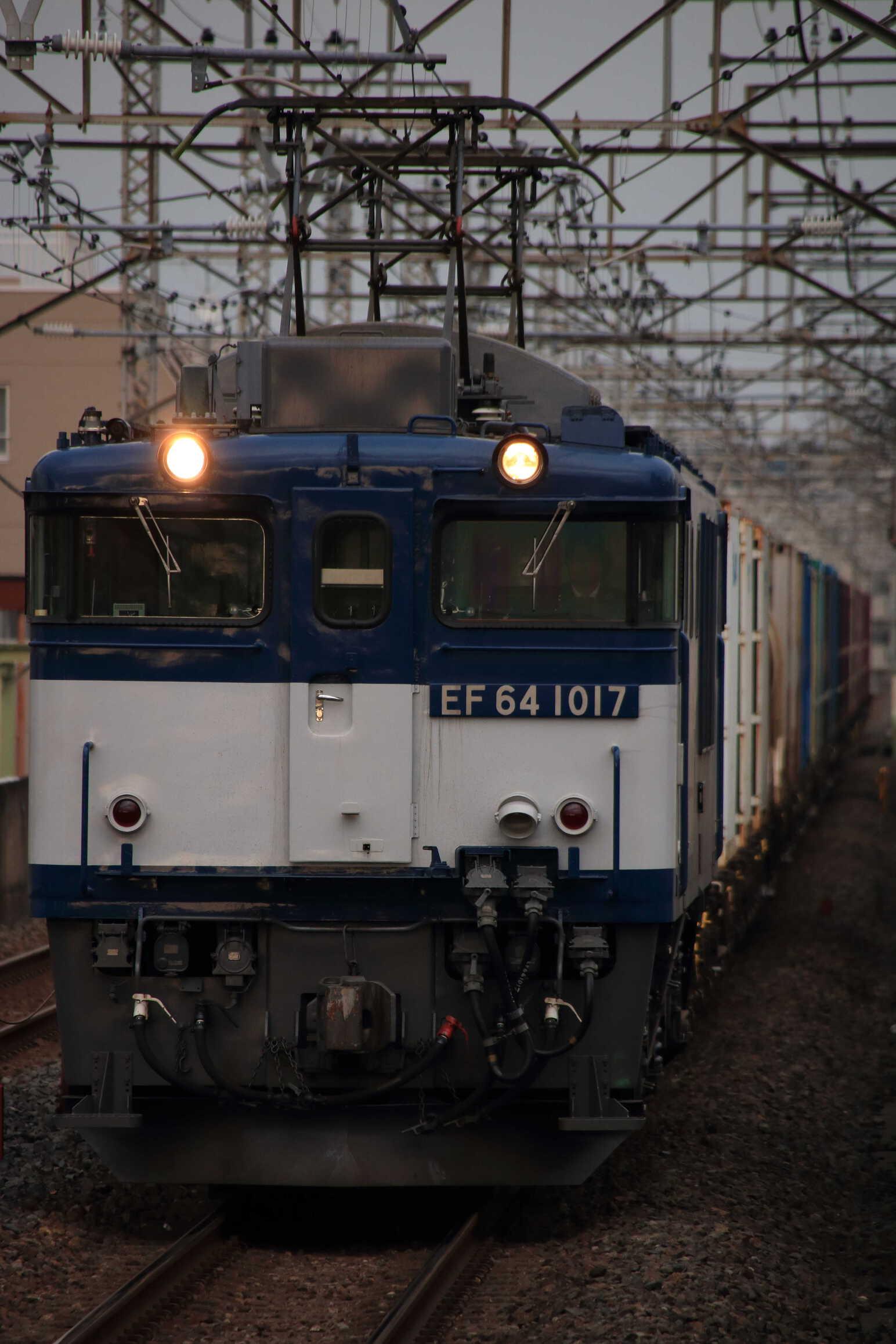 1094列車 EF64-1017②[愛]+コキ