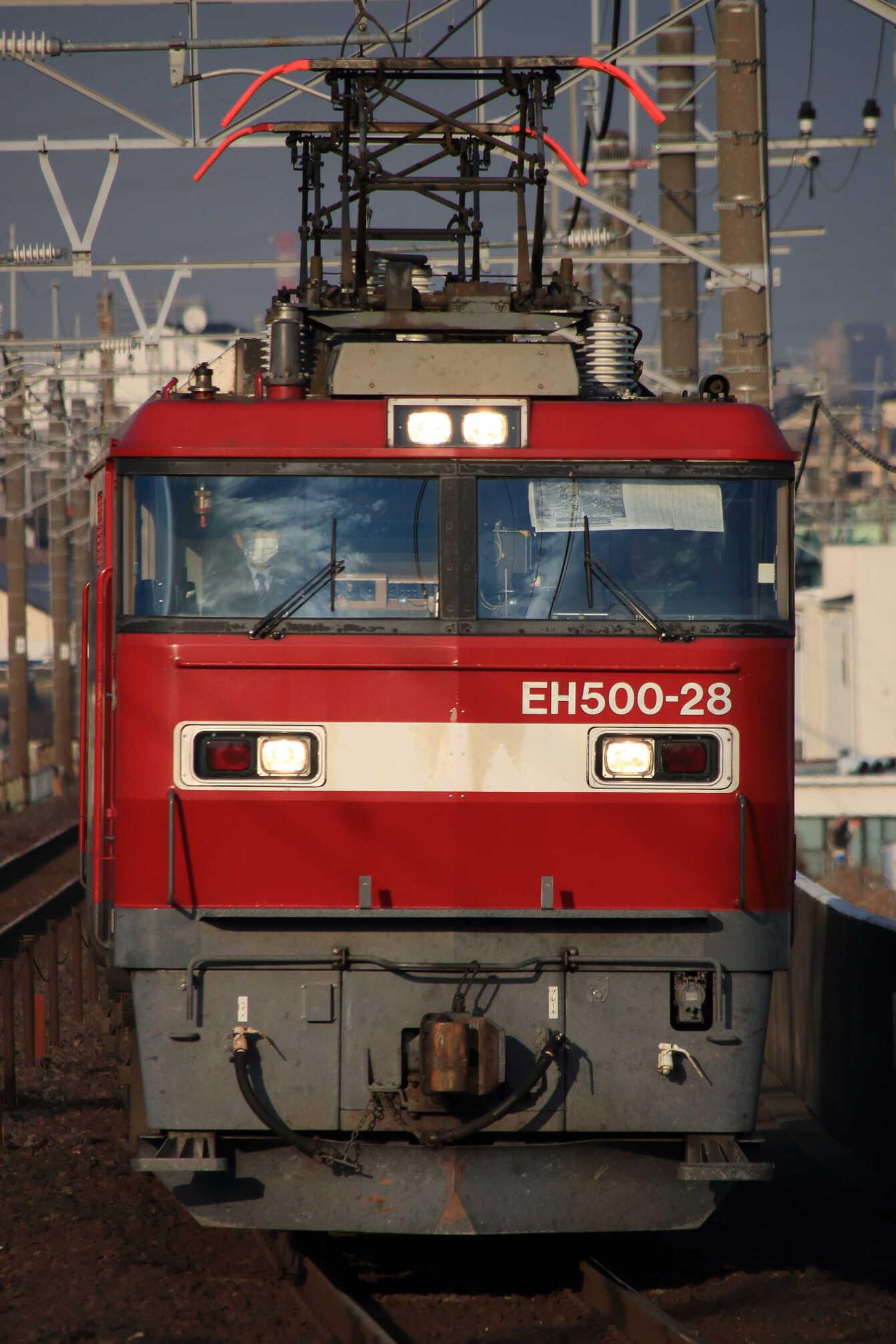 試単9076列車 黒磯機関区ハンドル訓練 EH500-28①[仙貨]