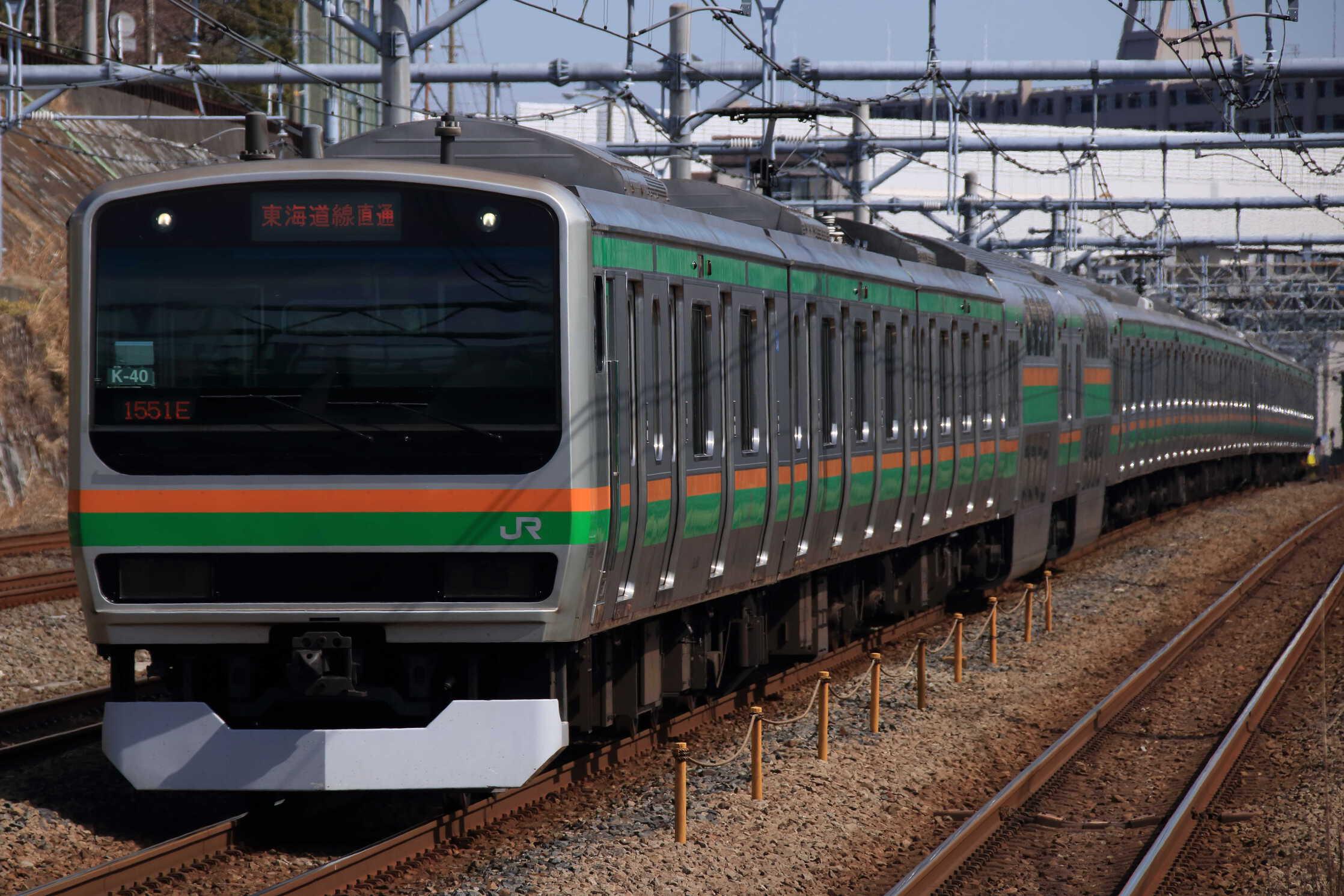 1551E E231系 横コツK-40編成+E231系 宮ヤマU6編成