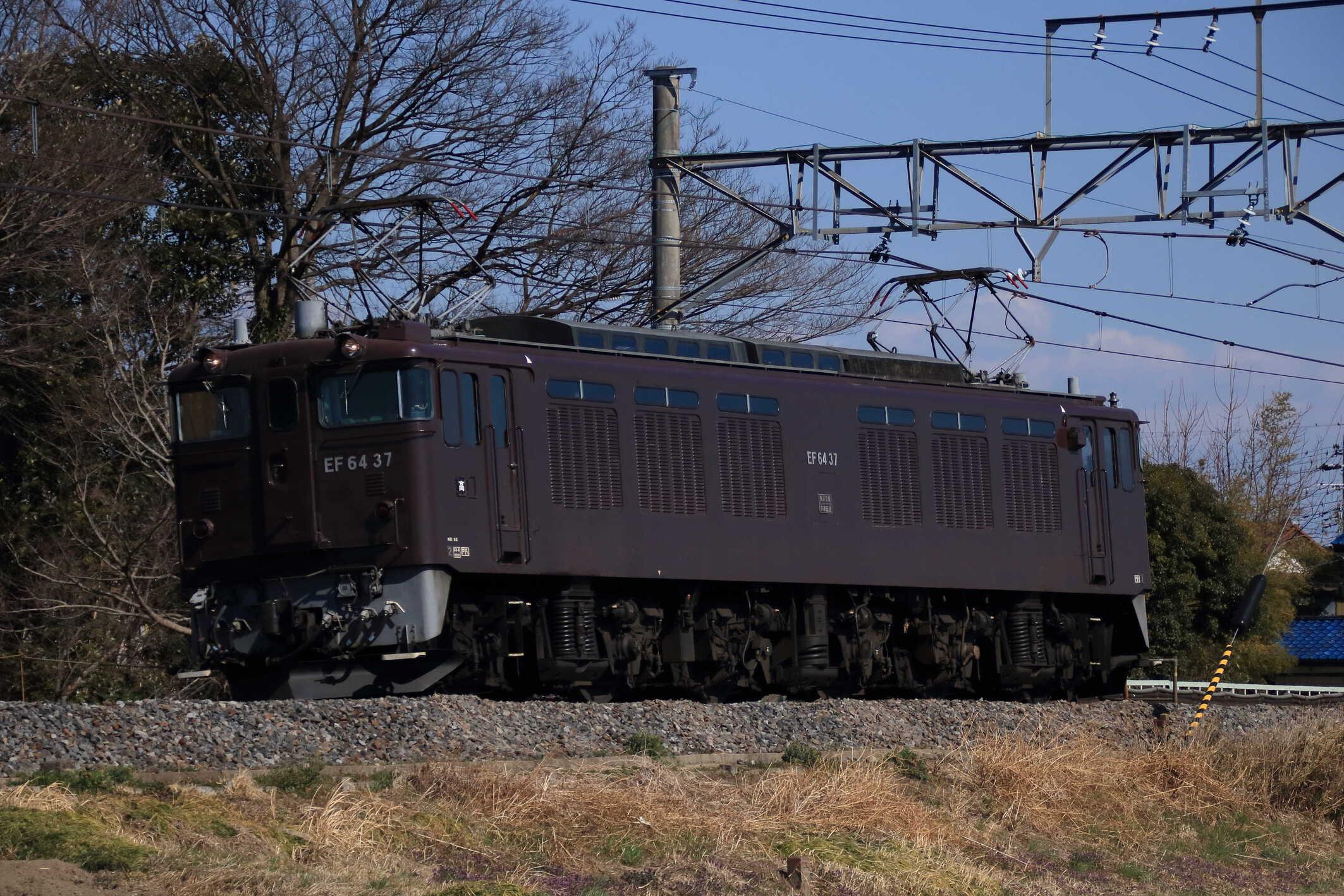 単9783列車 甲府常駐機交検回送 EF64-37②[高]