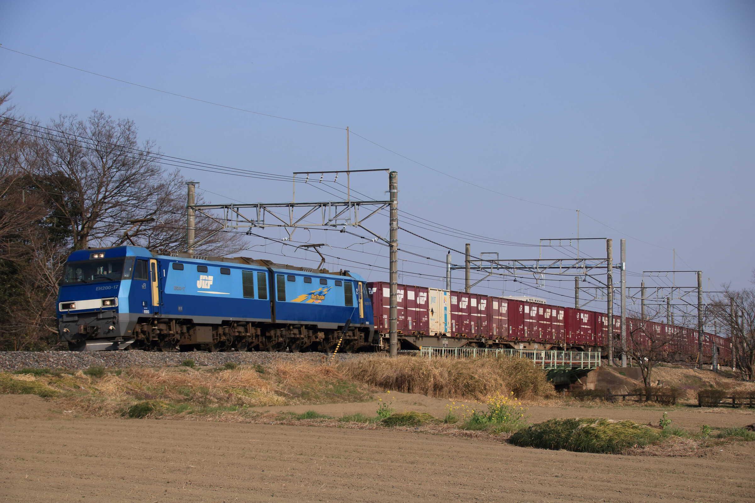 6087列車 EH200-17①[高]+コキ