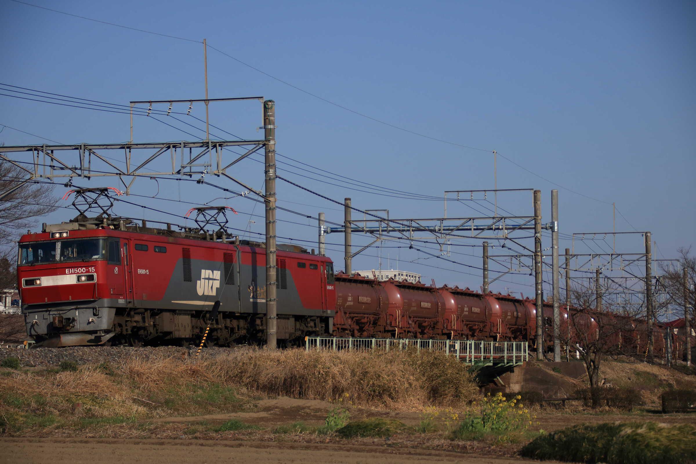 5097列車 EH500-15①[仙貨]+タキ12両+トキ6両