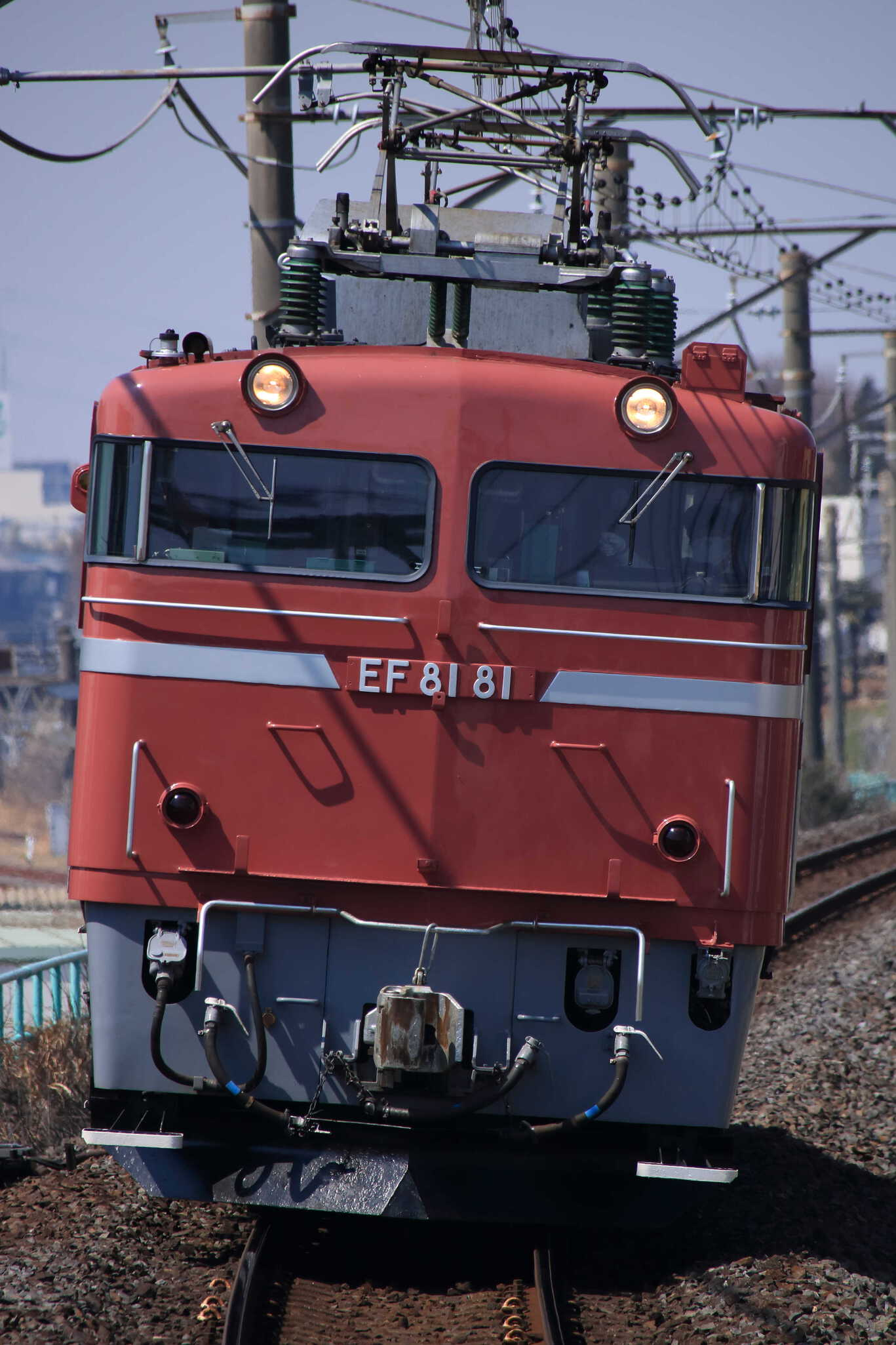 試単8937列車 神立試単 EF81-81②[田]