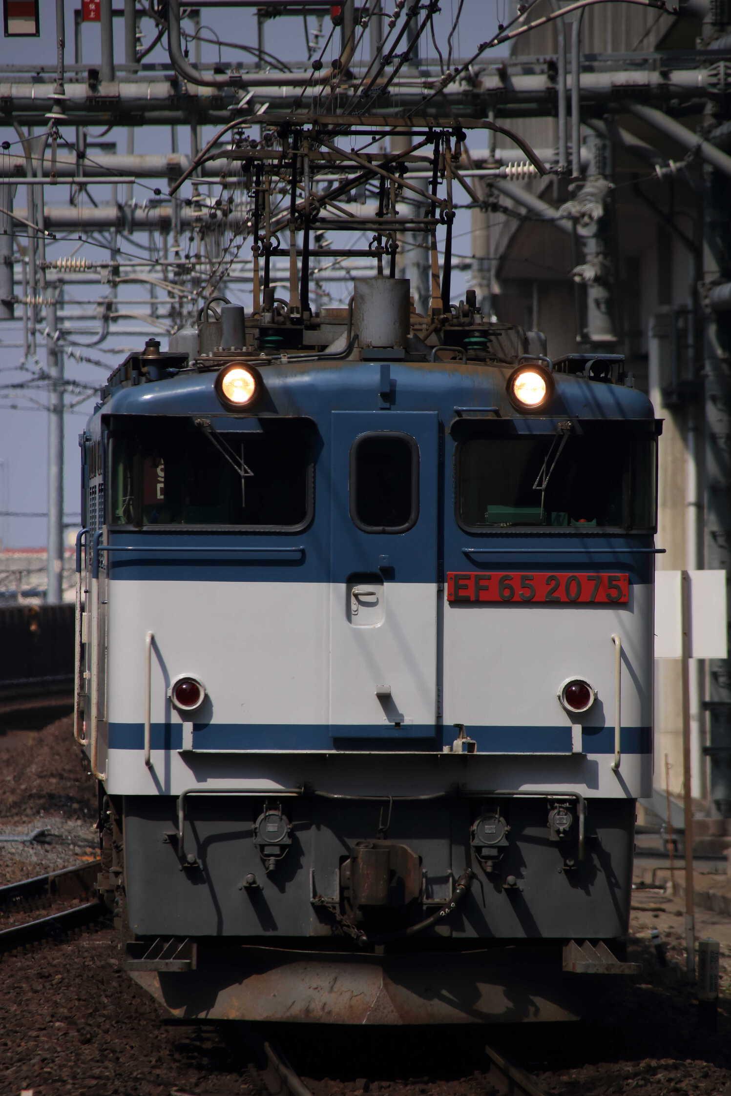 75列車 EF65-2075②[新]+コキ