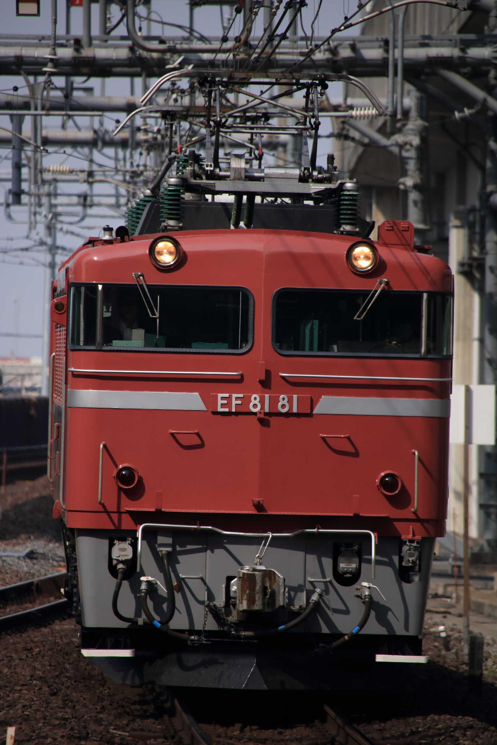 試単8938列車 神立試単 EF81-81①[田]