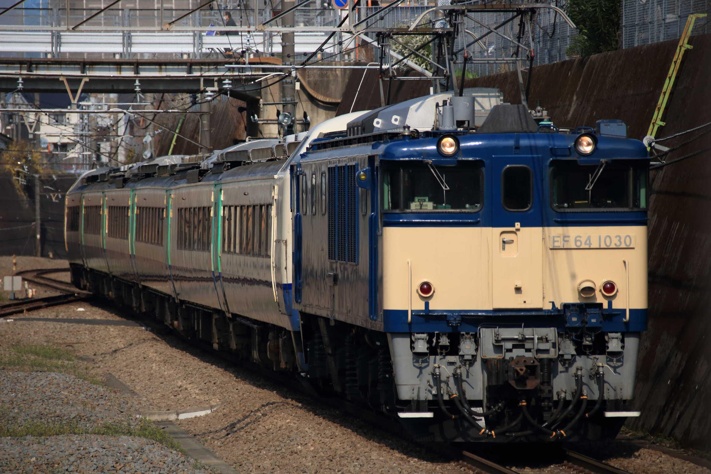 配9564列車 NN配給 EF64-1030①[長岡]+485系 新ニイR-28編成
