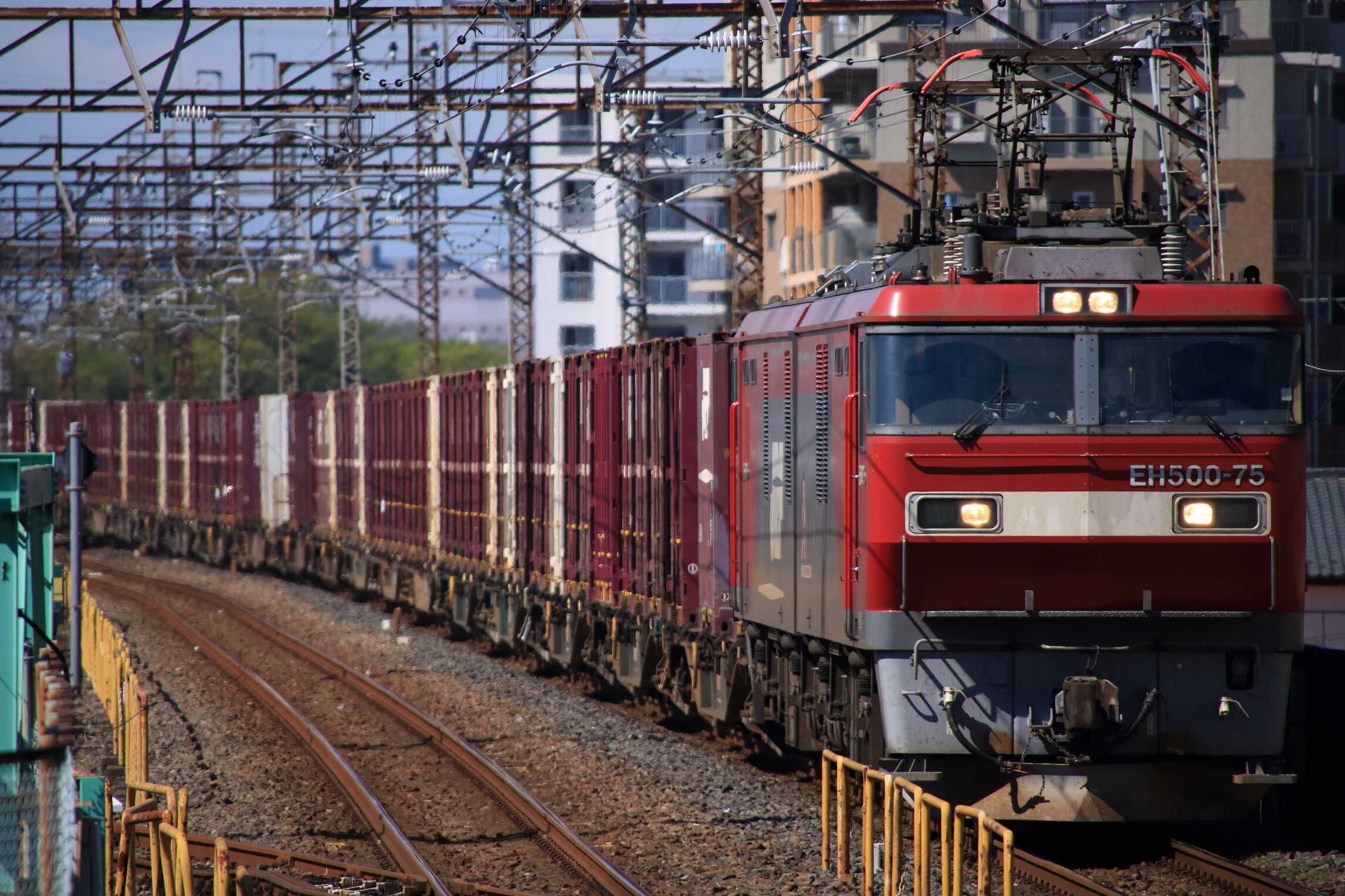 3083列車 EH500-75①[仙貨]+コキ