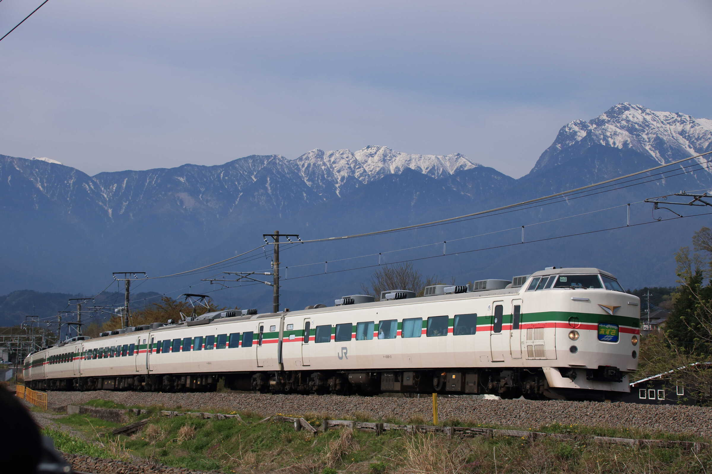 9071M 特急 あずさ71号 189系 八トタM52編成