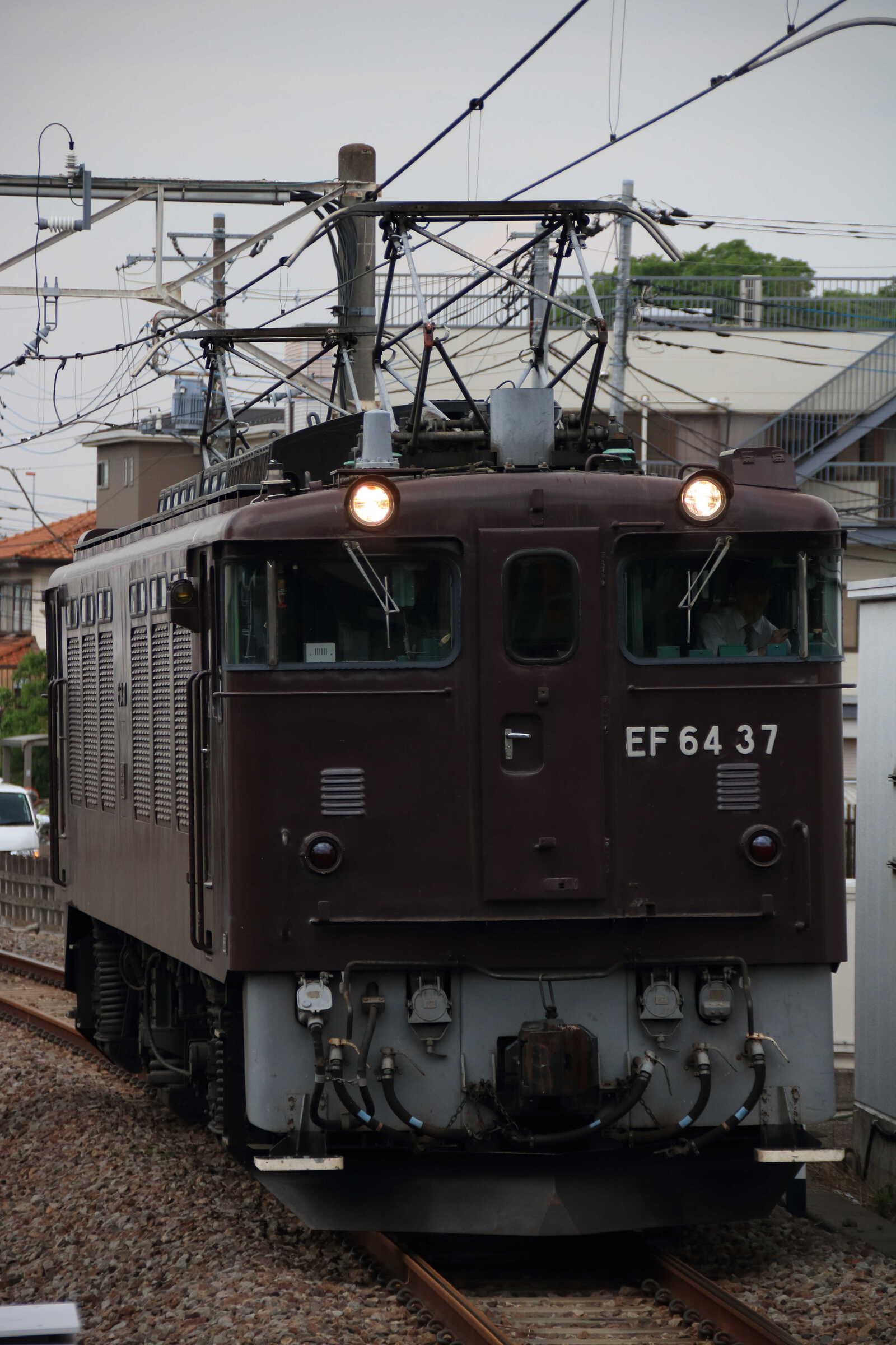 単9784列車 甲府常駐機送り込み EF64-37①[高]