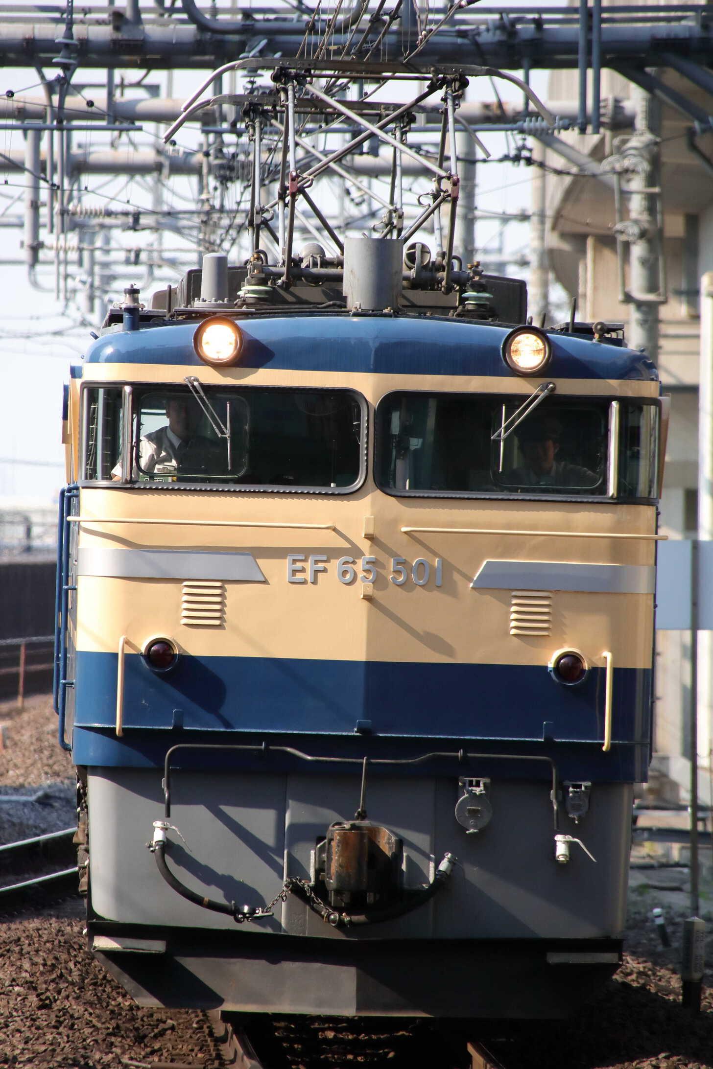単9492列車 新津工臨返空牽引機返却 EF65-501①[高]