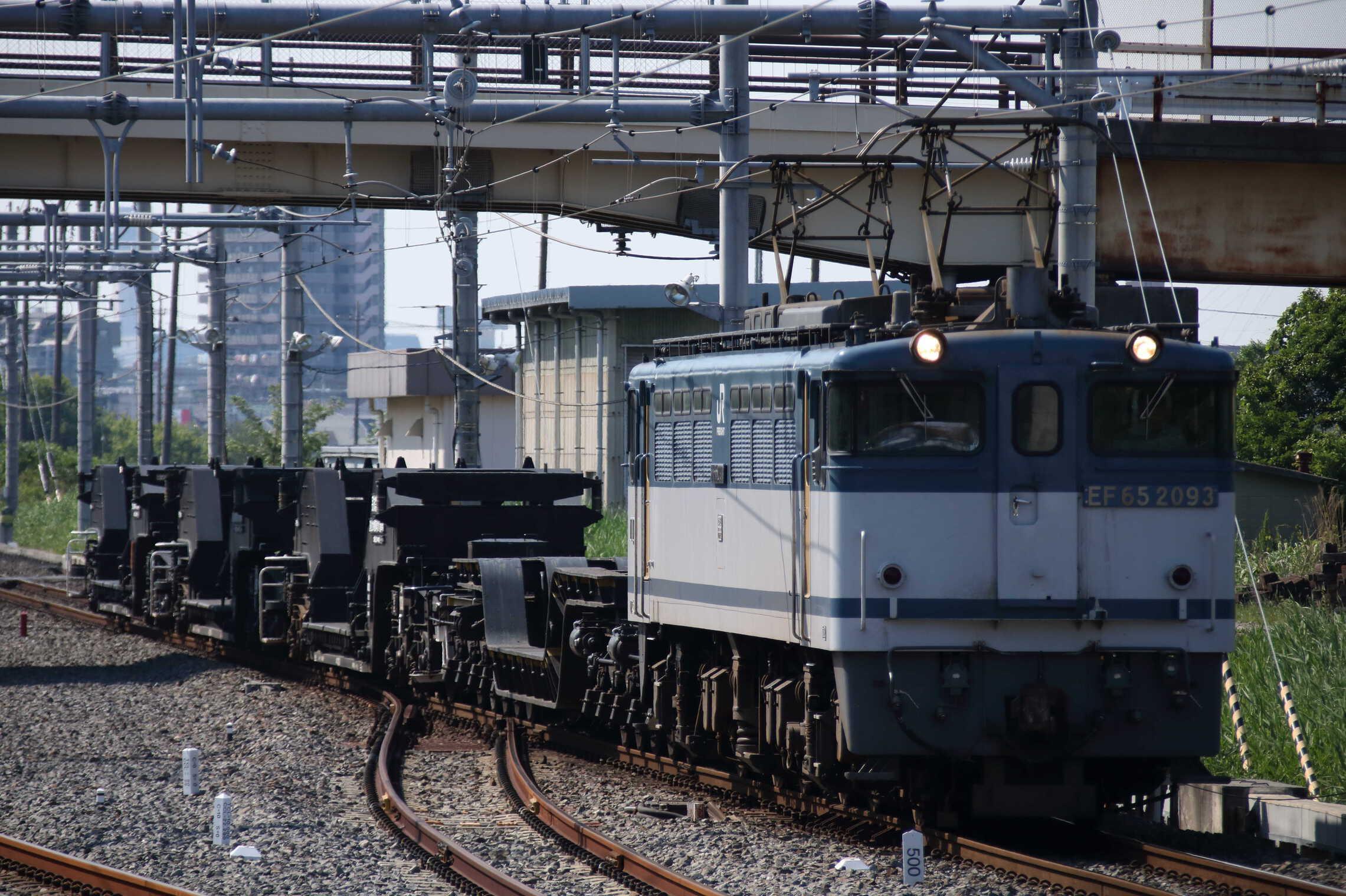 配8592列車 EF65-2093②[新]+シキ180+シキ1001D1+シキ1000D1+シキ1002D1