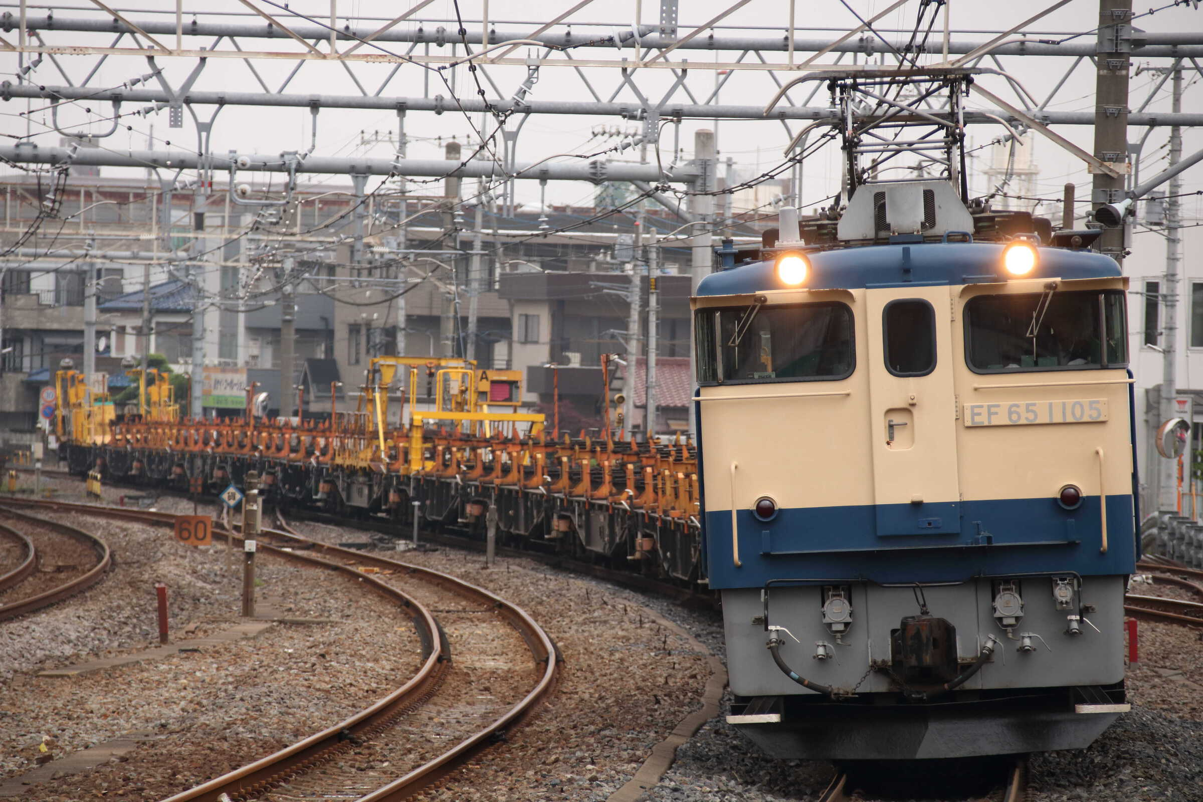 工9774列車 新津工臨返空(新南=4) EF65-1105②[田]+ロンチキA編成13両