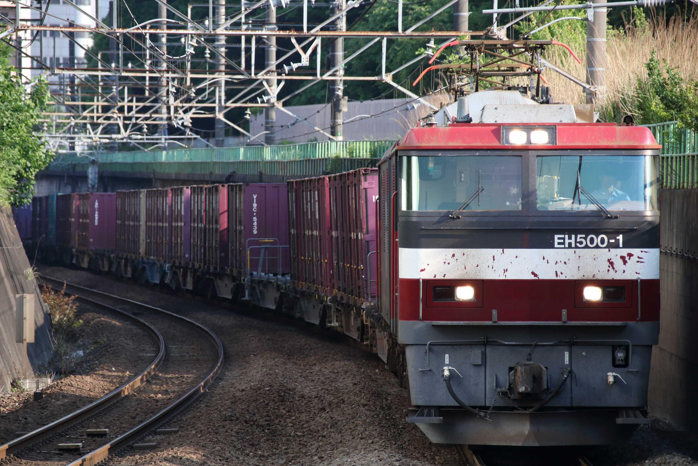 8063列車 EH500-1②[仙貨]+コキ
