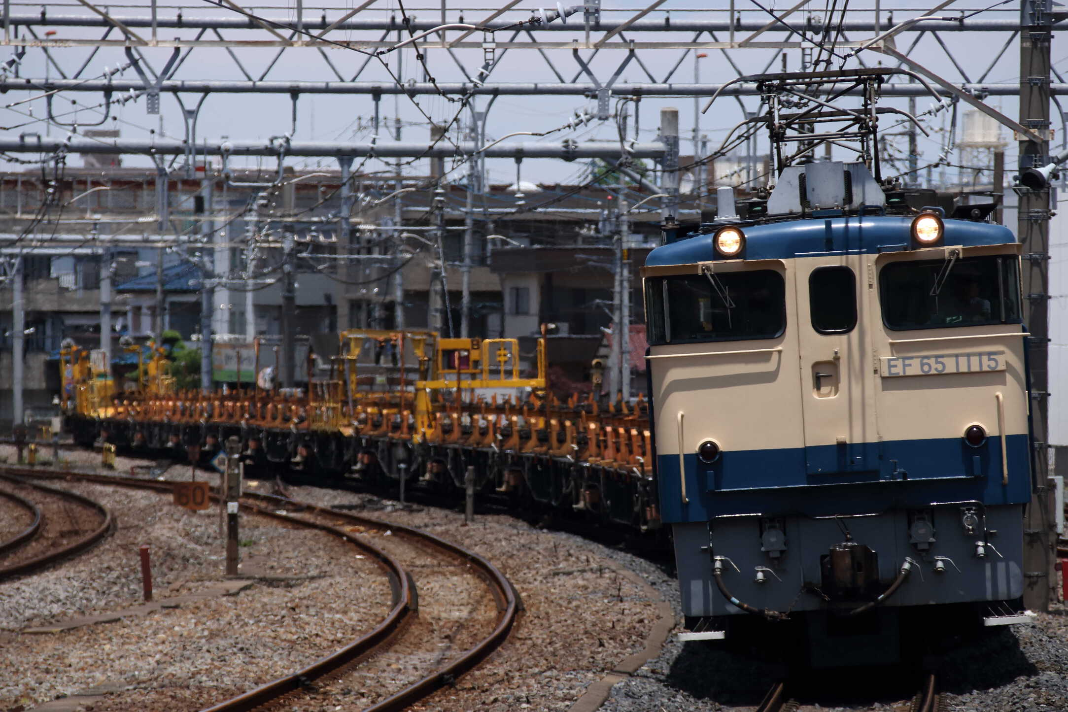 工9774列車 新津工臨返空(新南=3) EF65-1115②[田]+ロンチキB編成13両