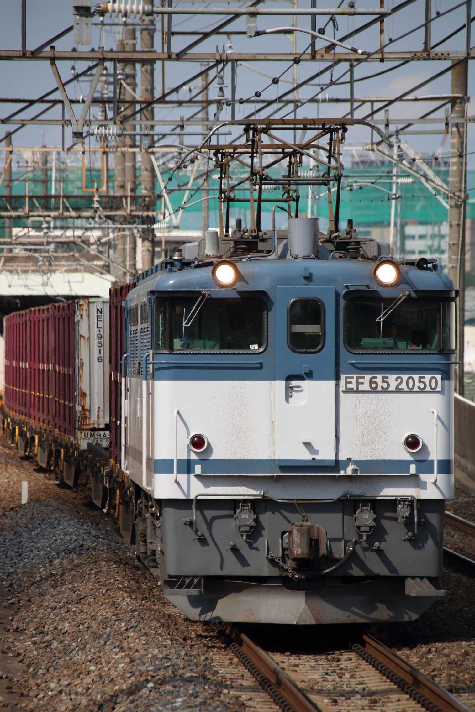 74列車 EF65-2050②[新]+コキ