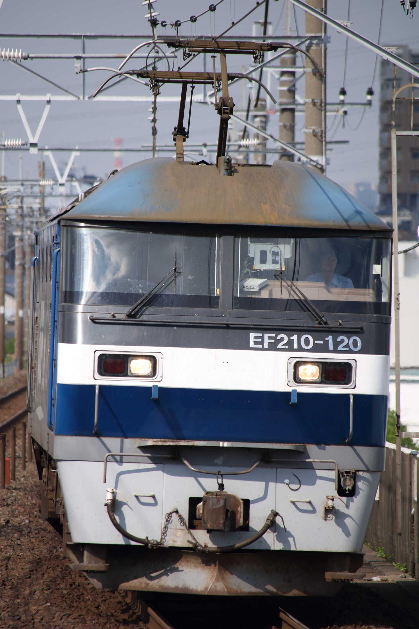 8586列車(種別変更 : 単機) EF210-120②[新]