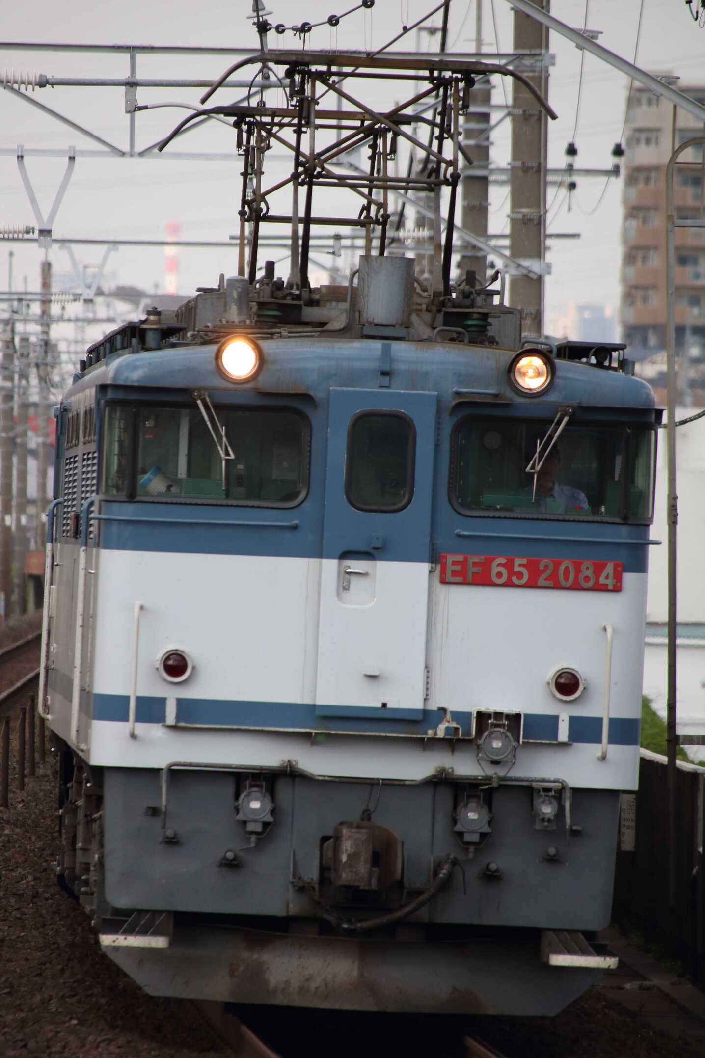 74列車 EF65-2084①[新]+コキ