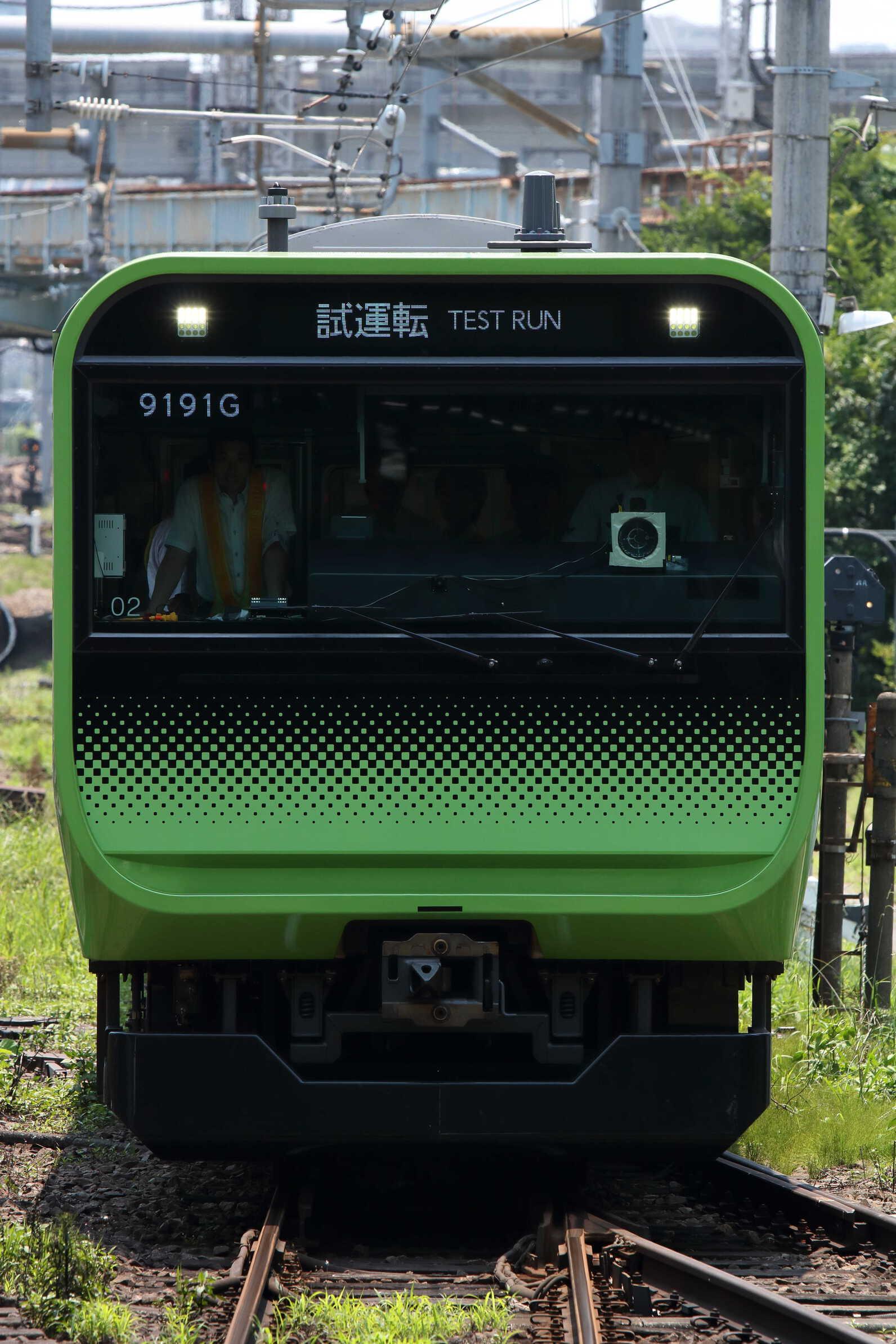 試9191G シミュレーター映像撮影に伴う試運転 E235系 東トウ02編成