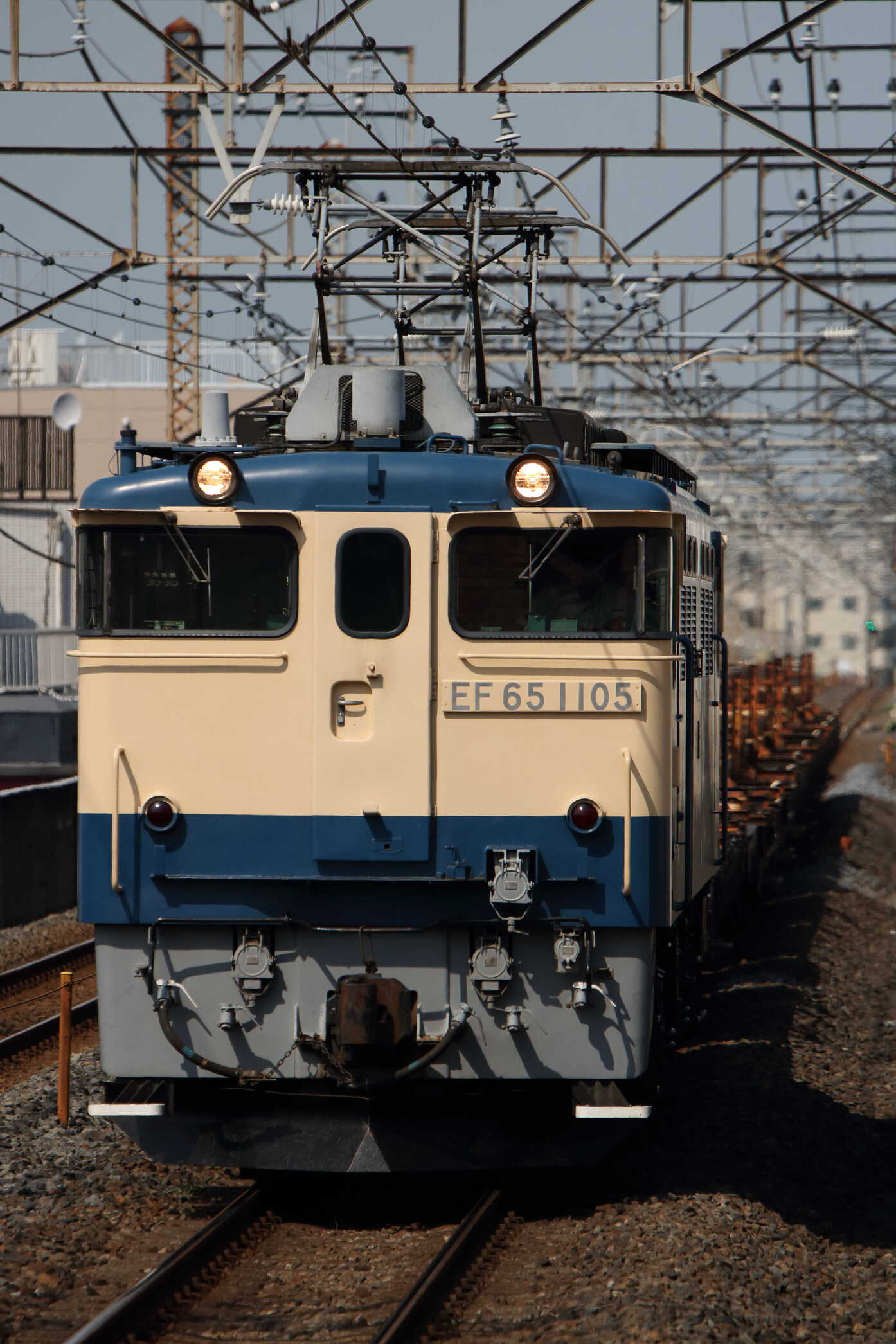 工9871列車 八王子(国分寺, 北府中 川中島, 韮崎)工臨 EF65-1105①[田]+チチキ11車