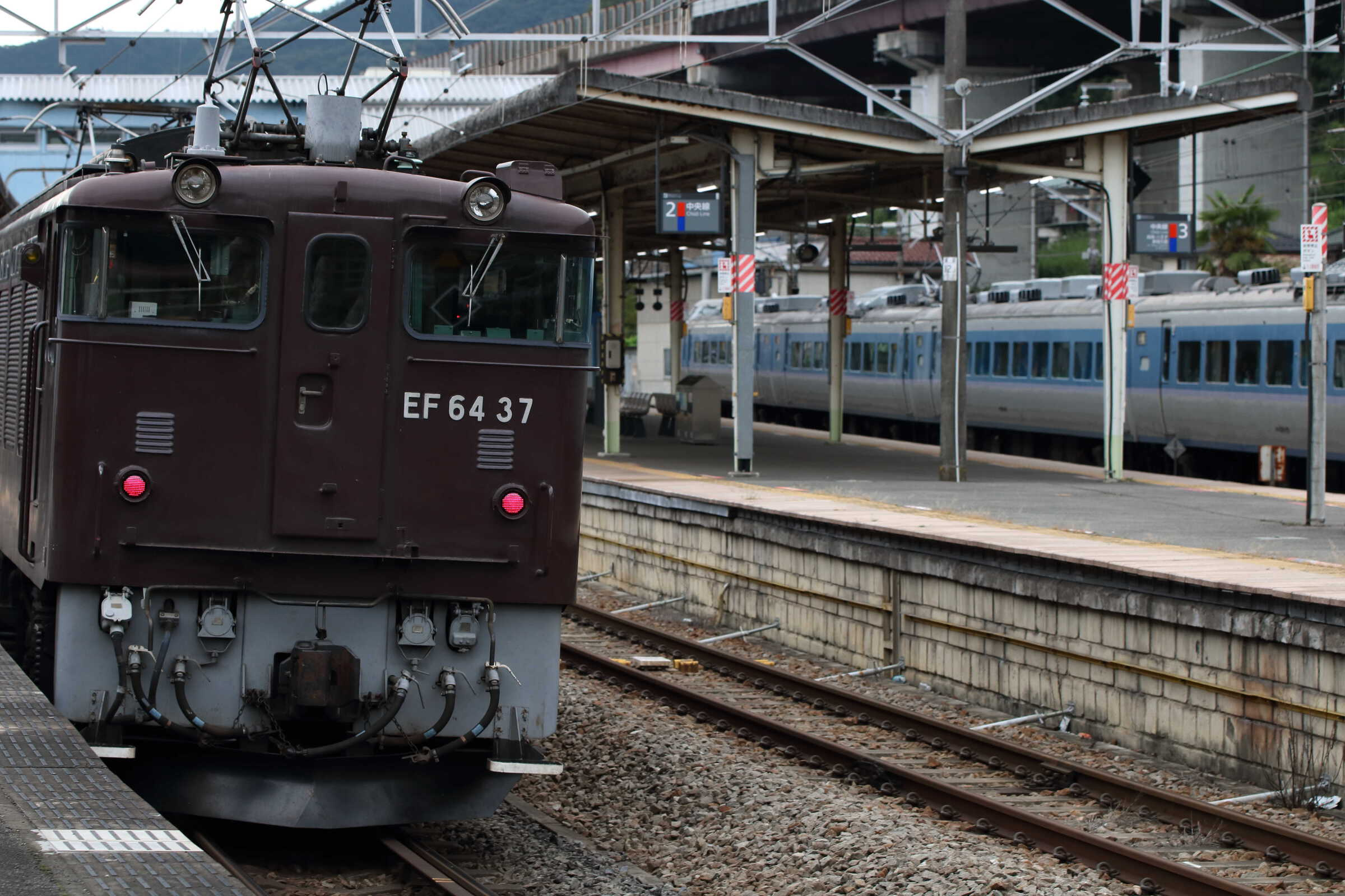 単9585列車 EF64-37①[高] / 9454M 長野〜立川〜我孫子団臨 189系 八トタM50編成
